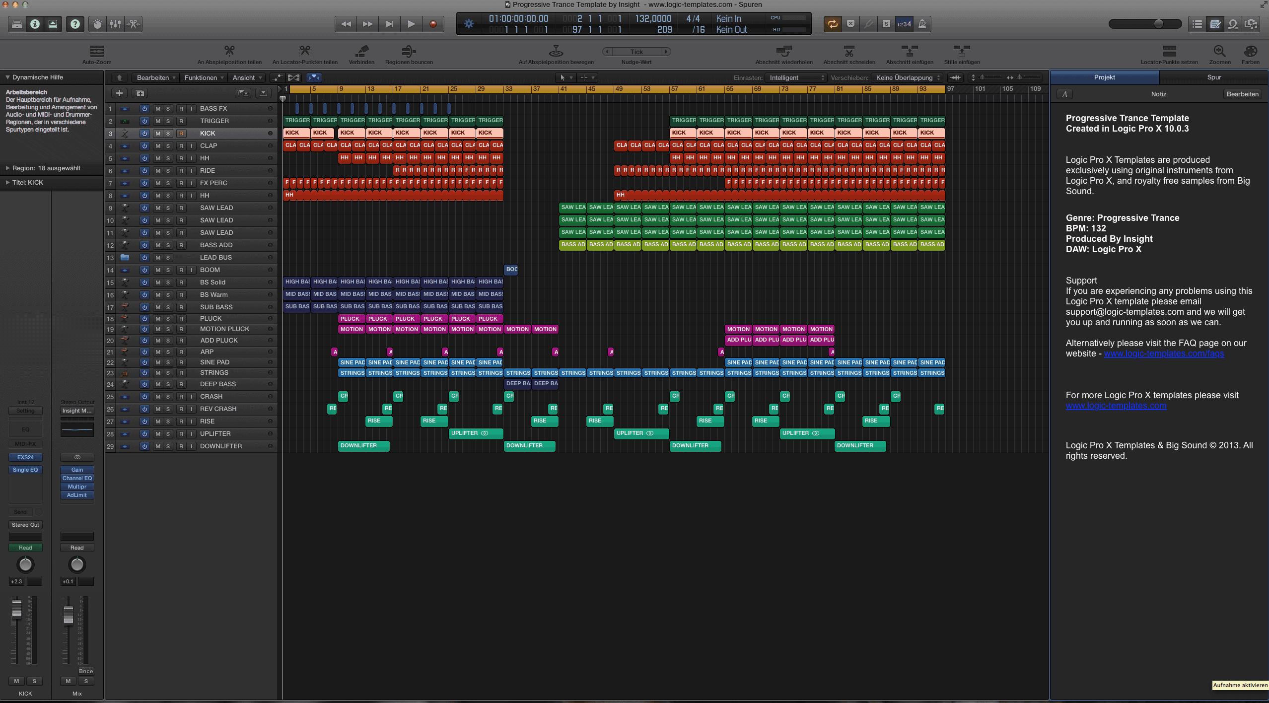 Progressive Trance Logic Pro X Template