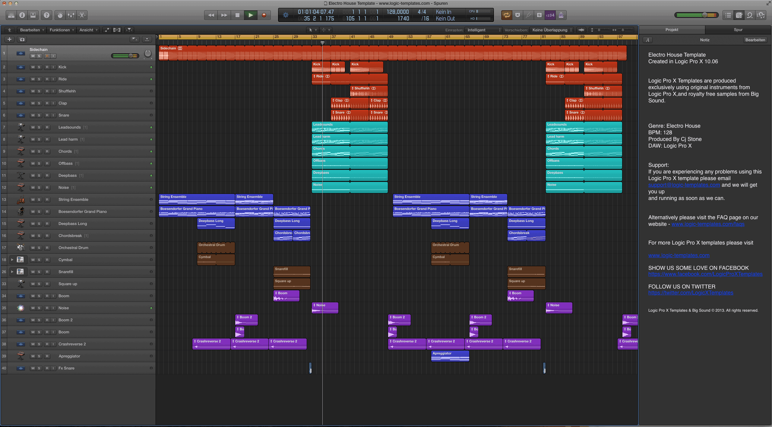 Electro House Template