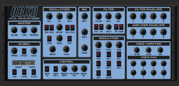 OBXD SYNTHESIZER