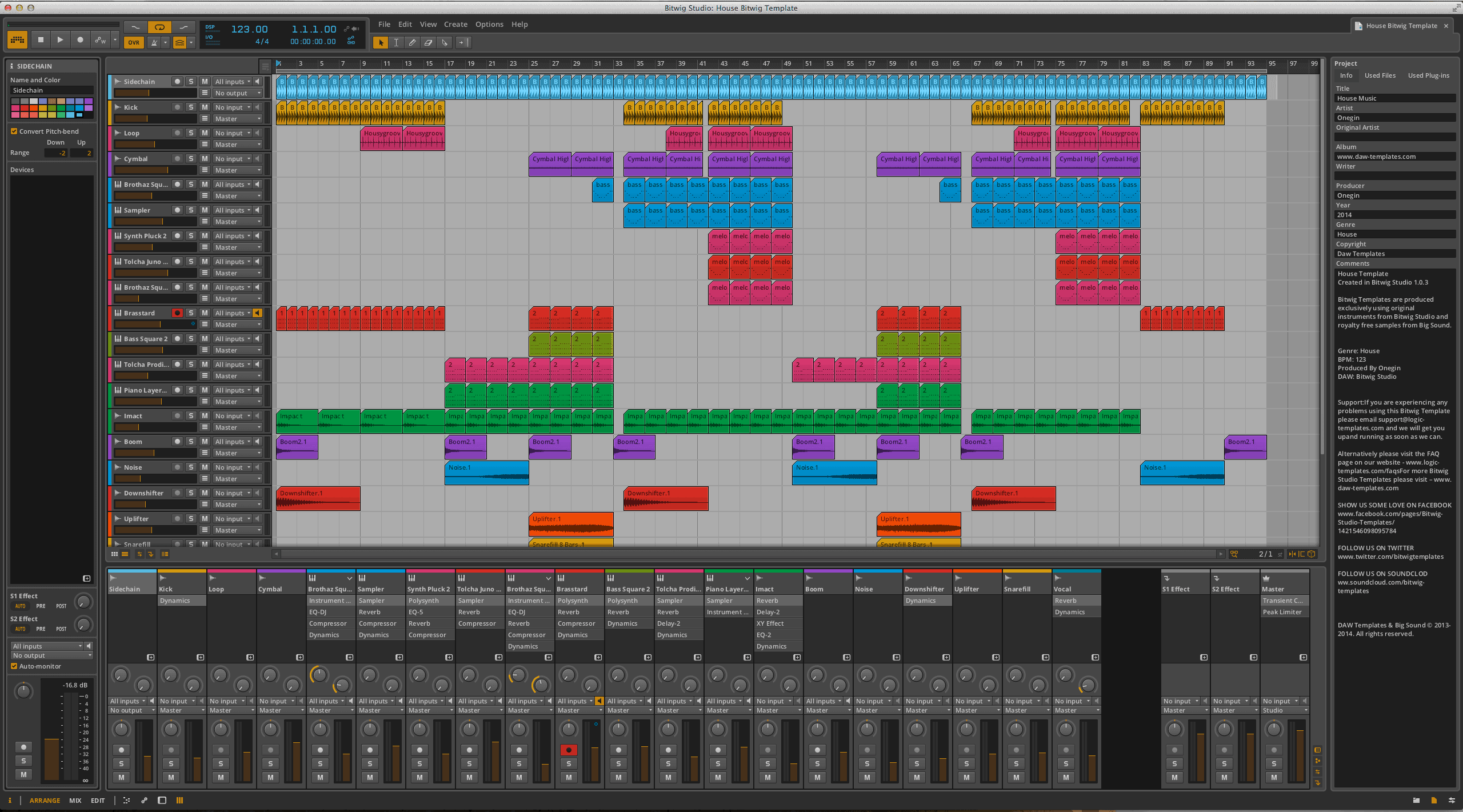 House Bitwig Template