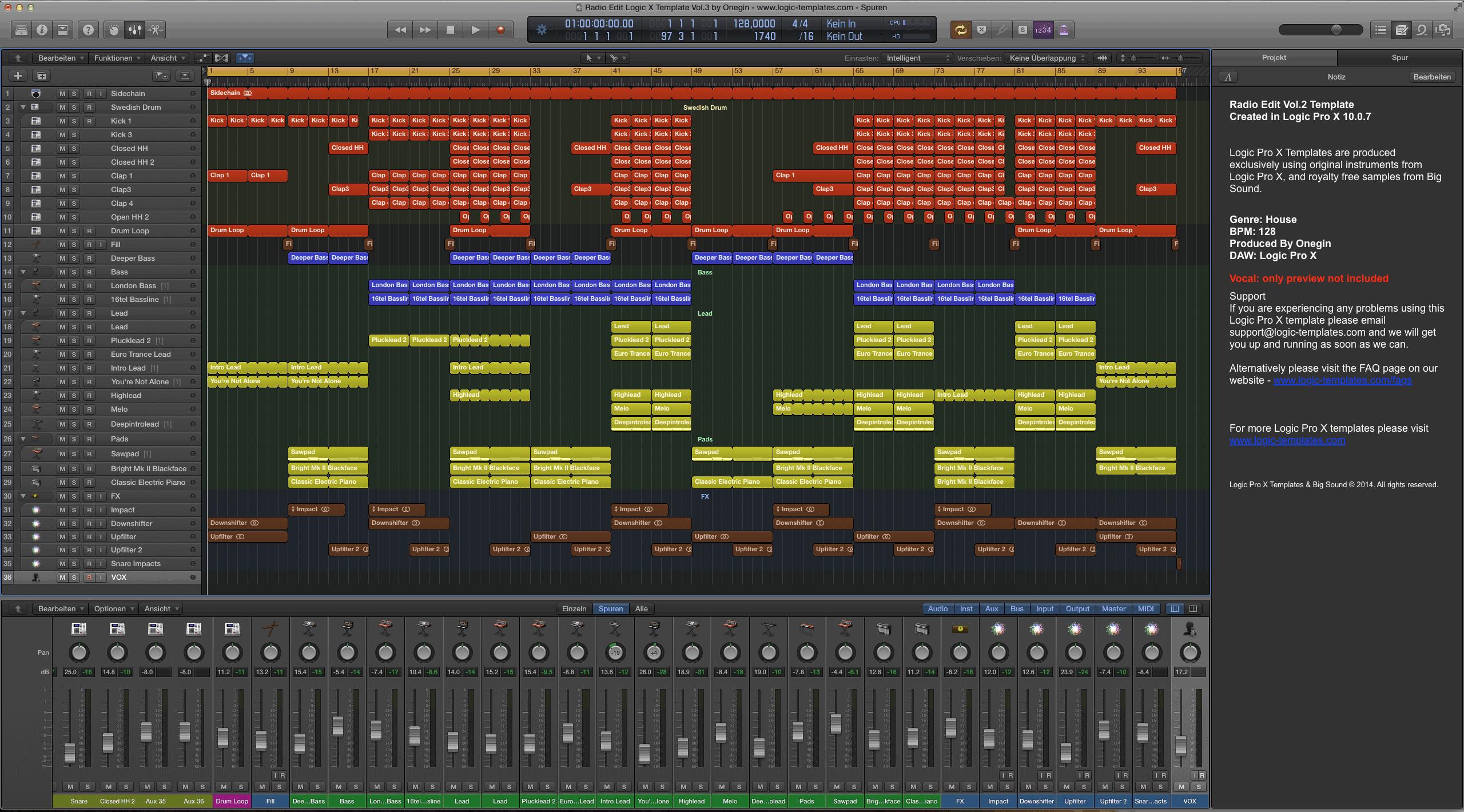 Radio Edit Logic X Template Vol.3 by Onegin