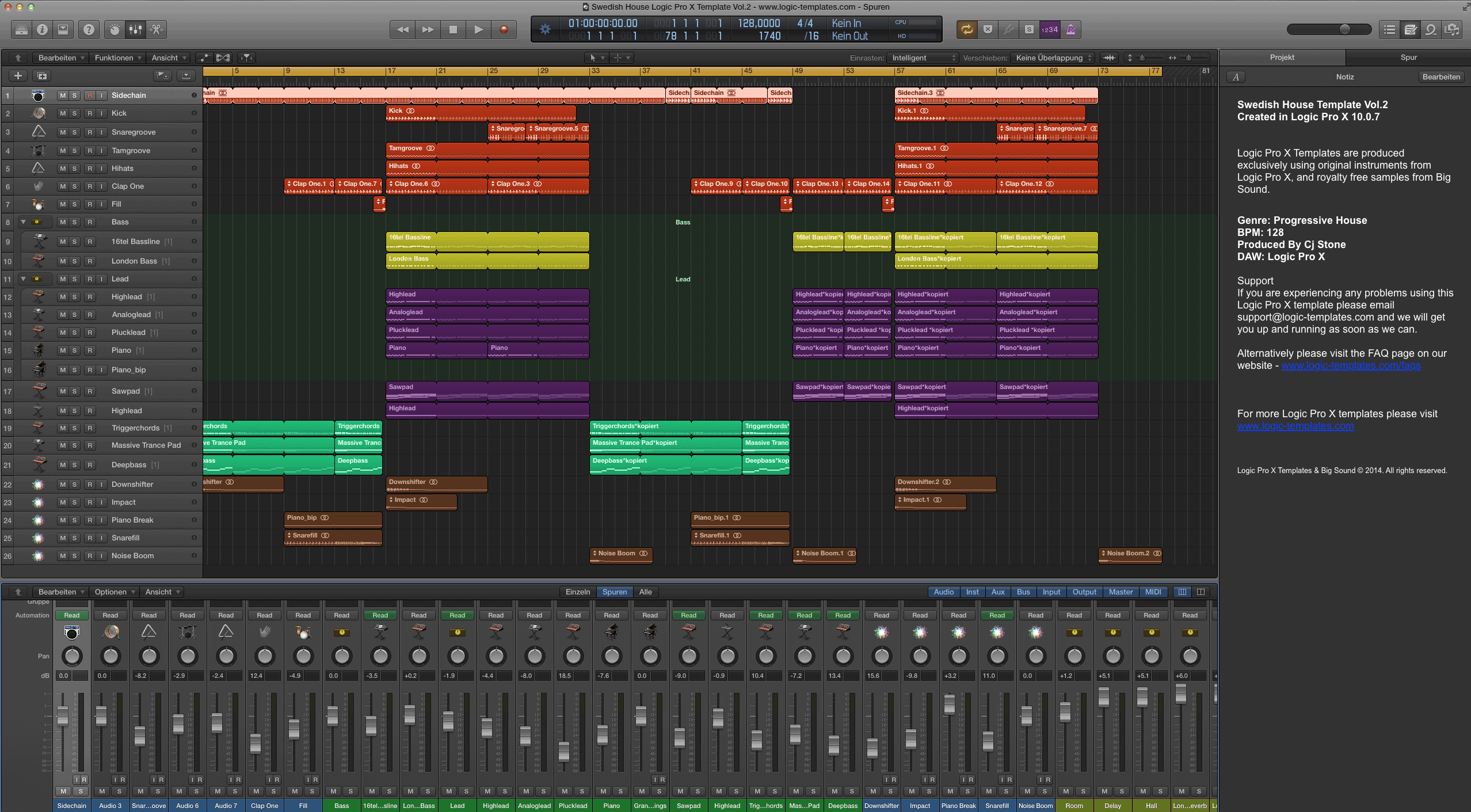 Swedish House Logic Pro X Template Vol.2
