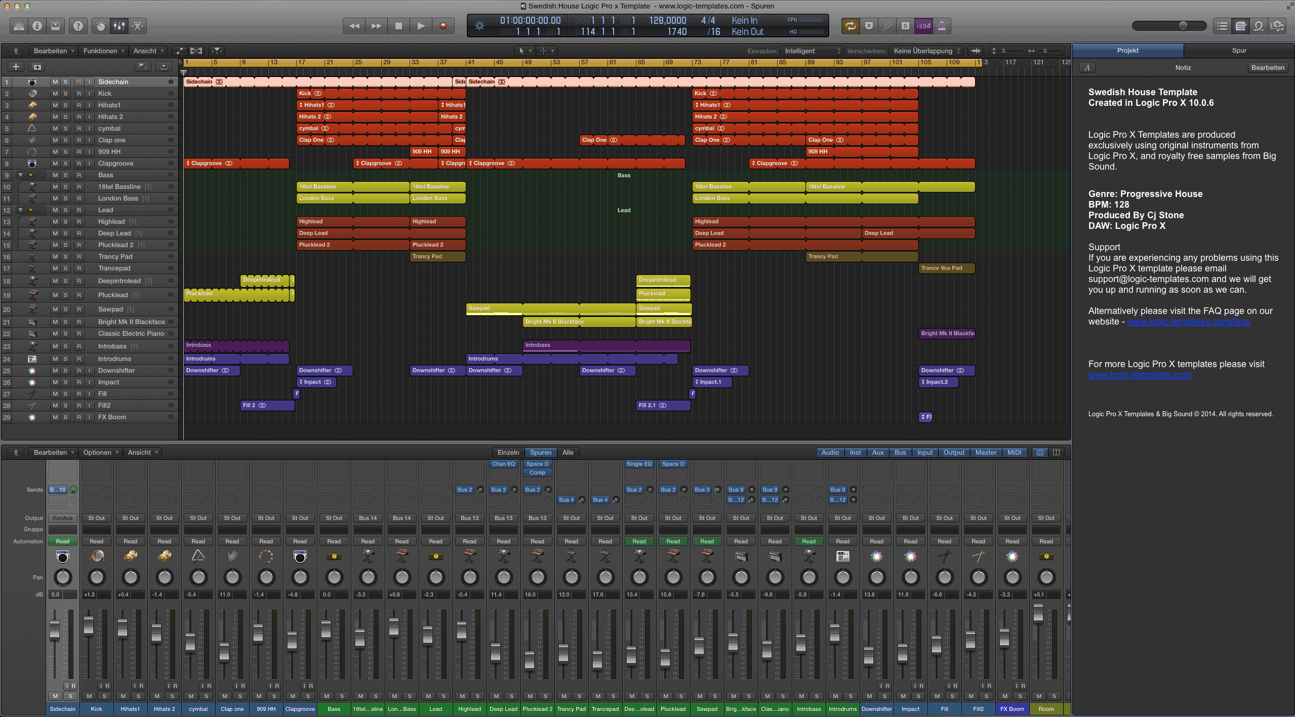 Swedish House Logic Pro x Template