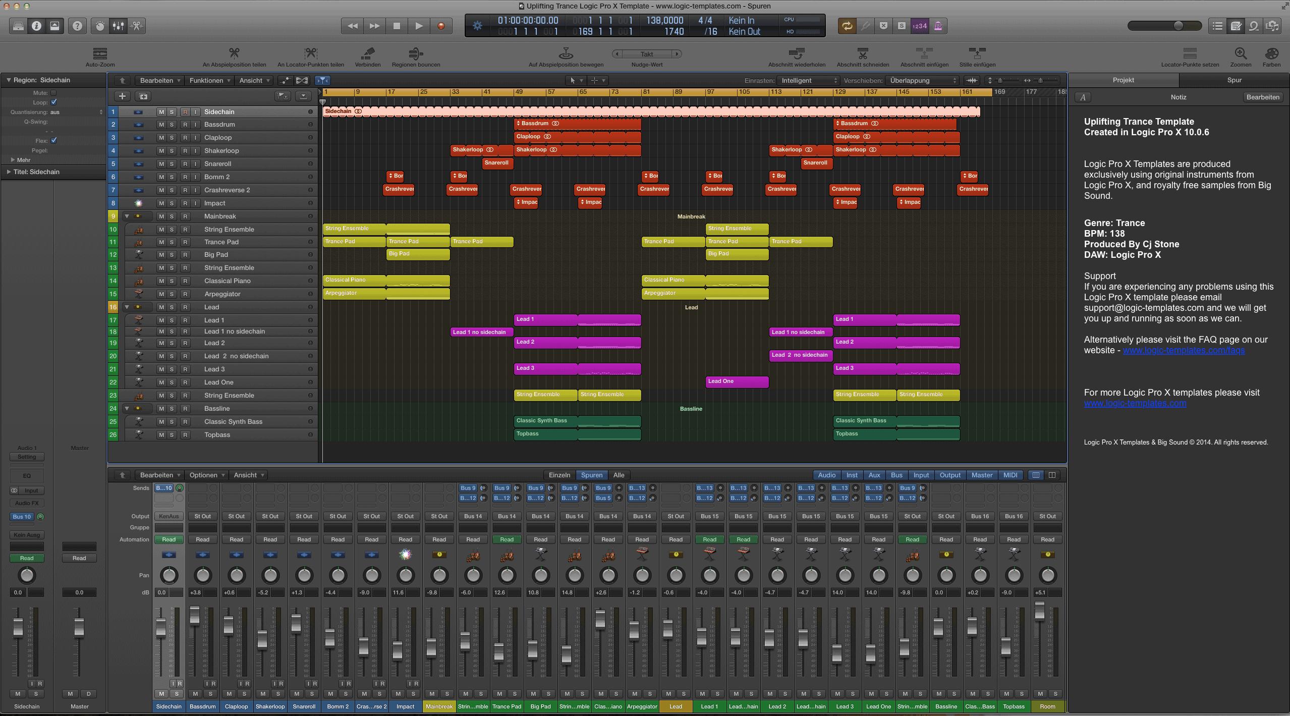 Uplifting Trance Logic Pro X Template