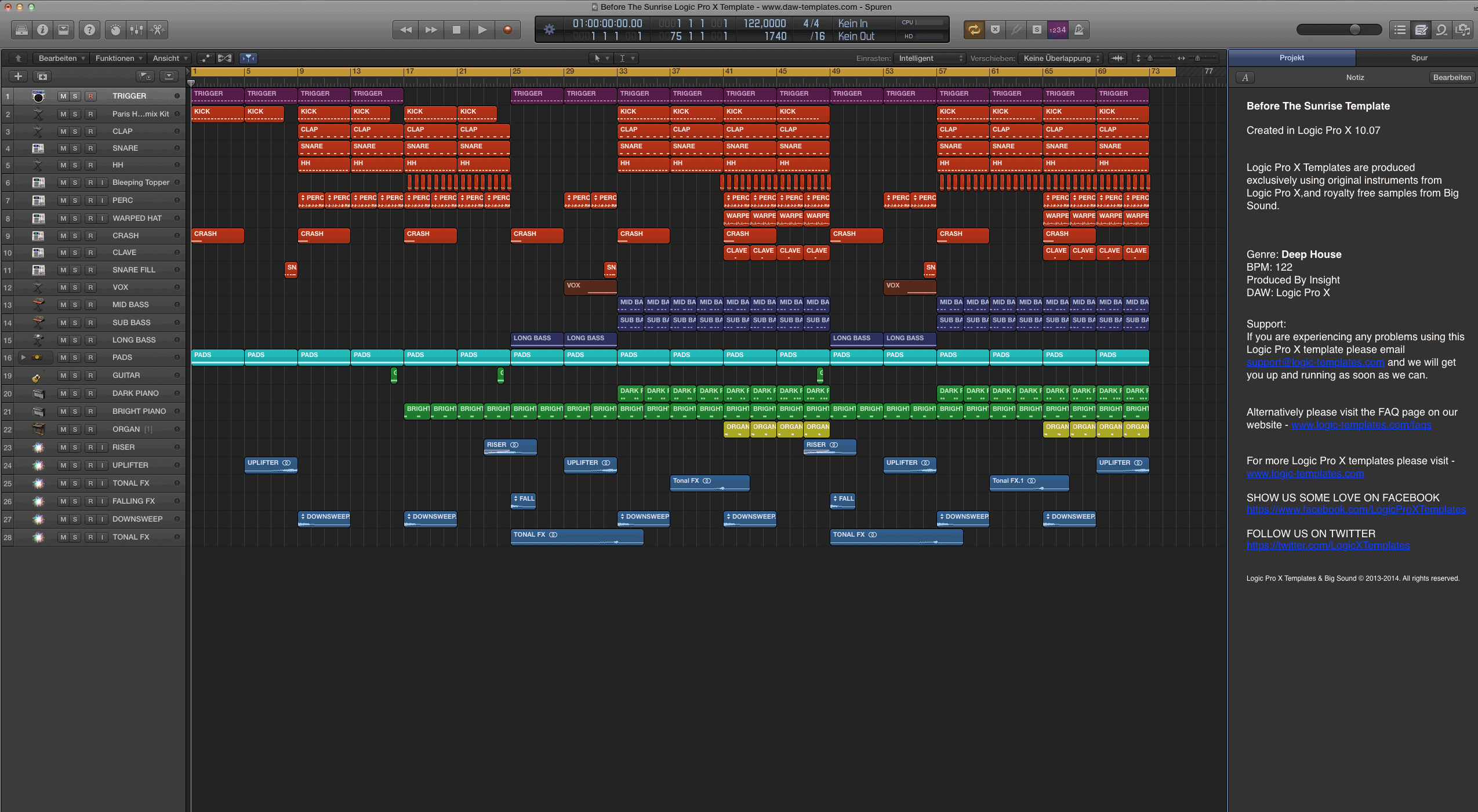 Before The Sunrise Logic Pro X Template