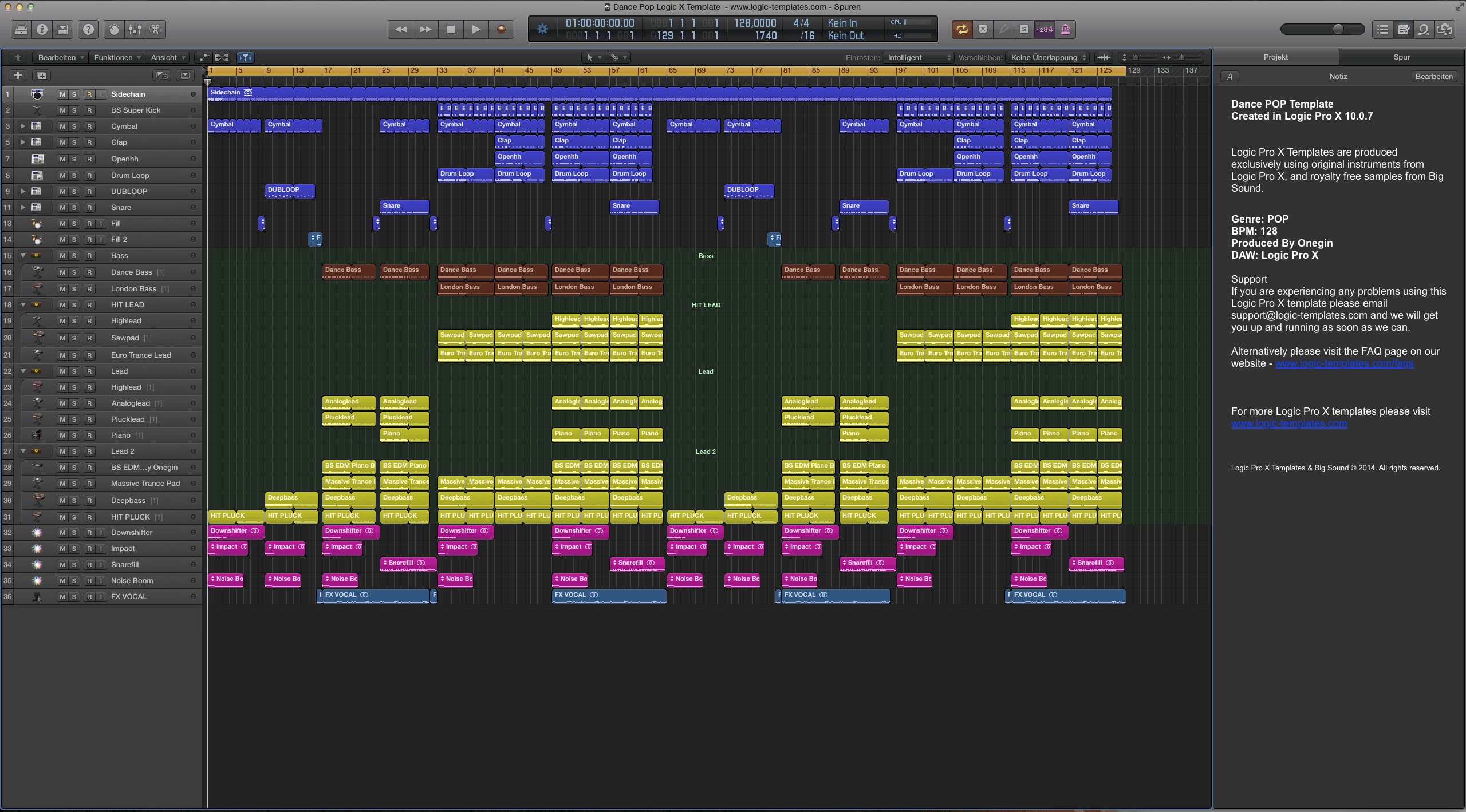 Dance Pop Logic X Template