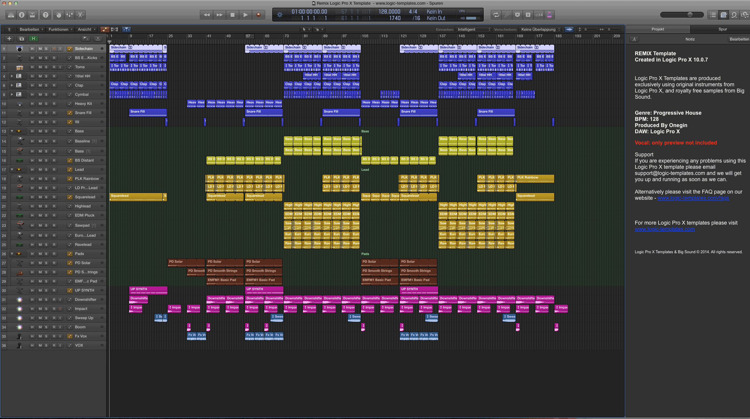 Remix Logic Pro X Template