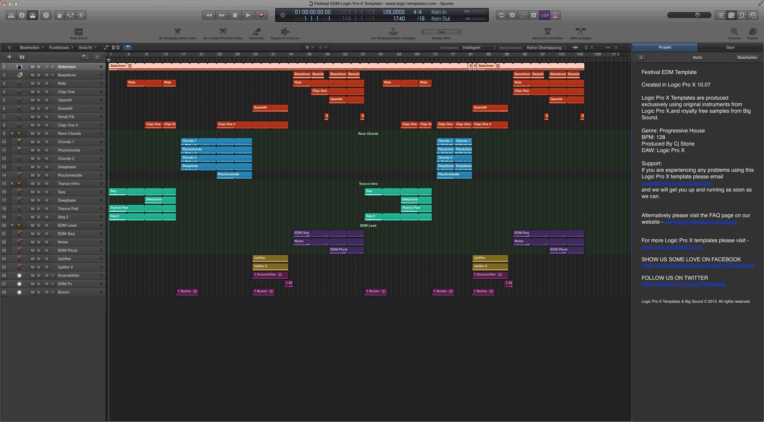 Festival EDM Logic Pro X Template
