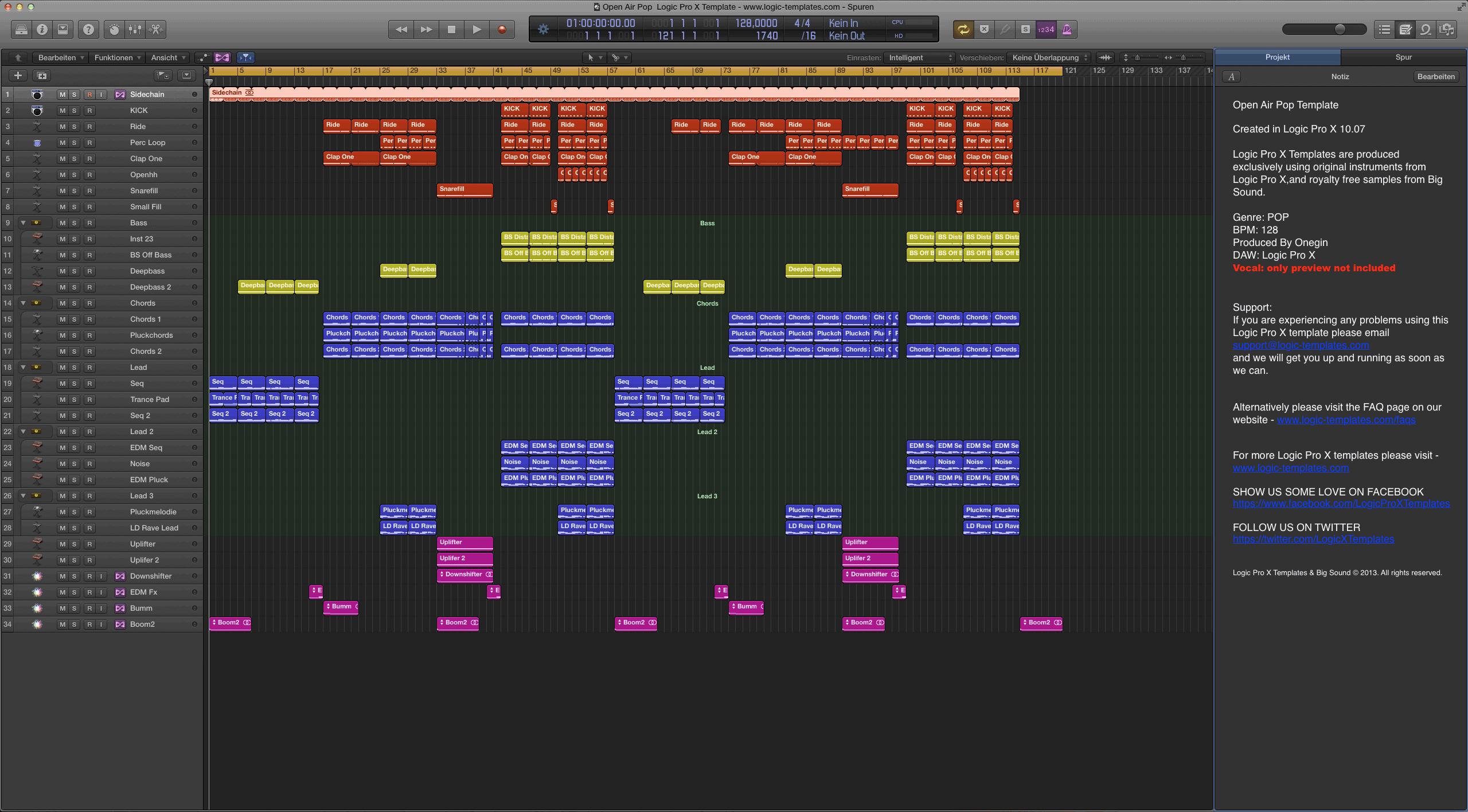Open Air Pop Logic X Template