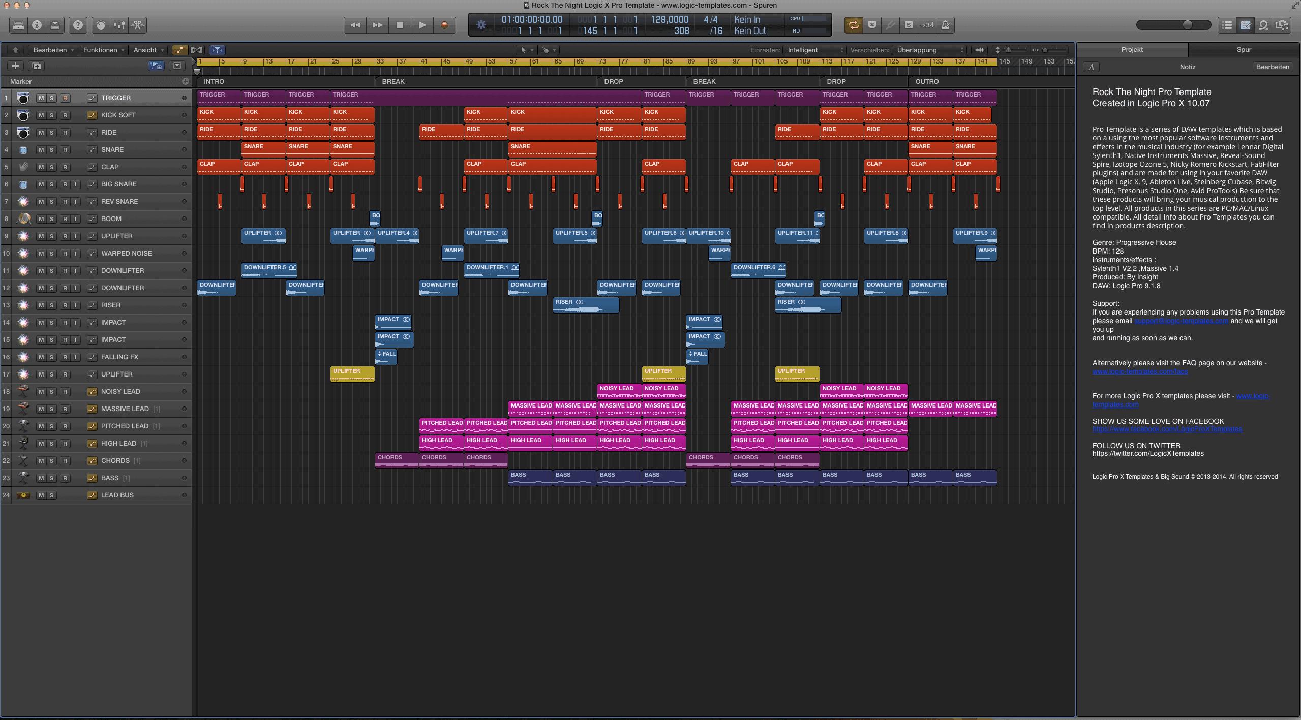 Rock The Night Logic X Pro Template