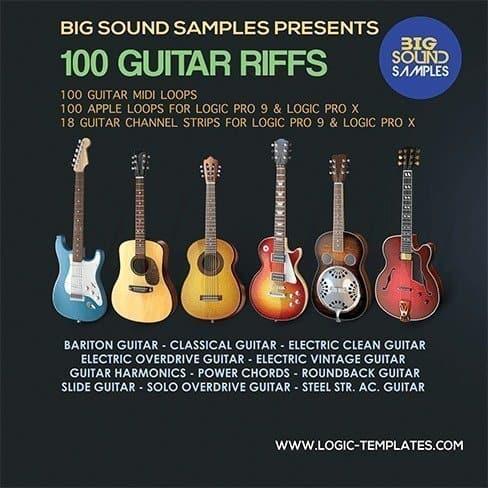 100 Guitar Riffs Apple-Midi Loops
