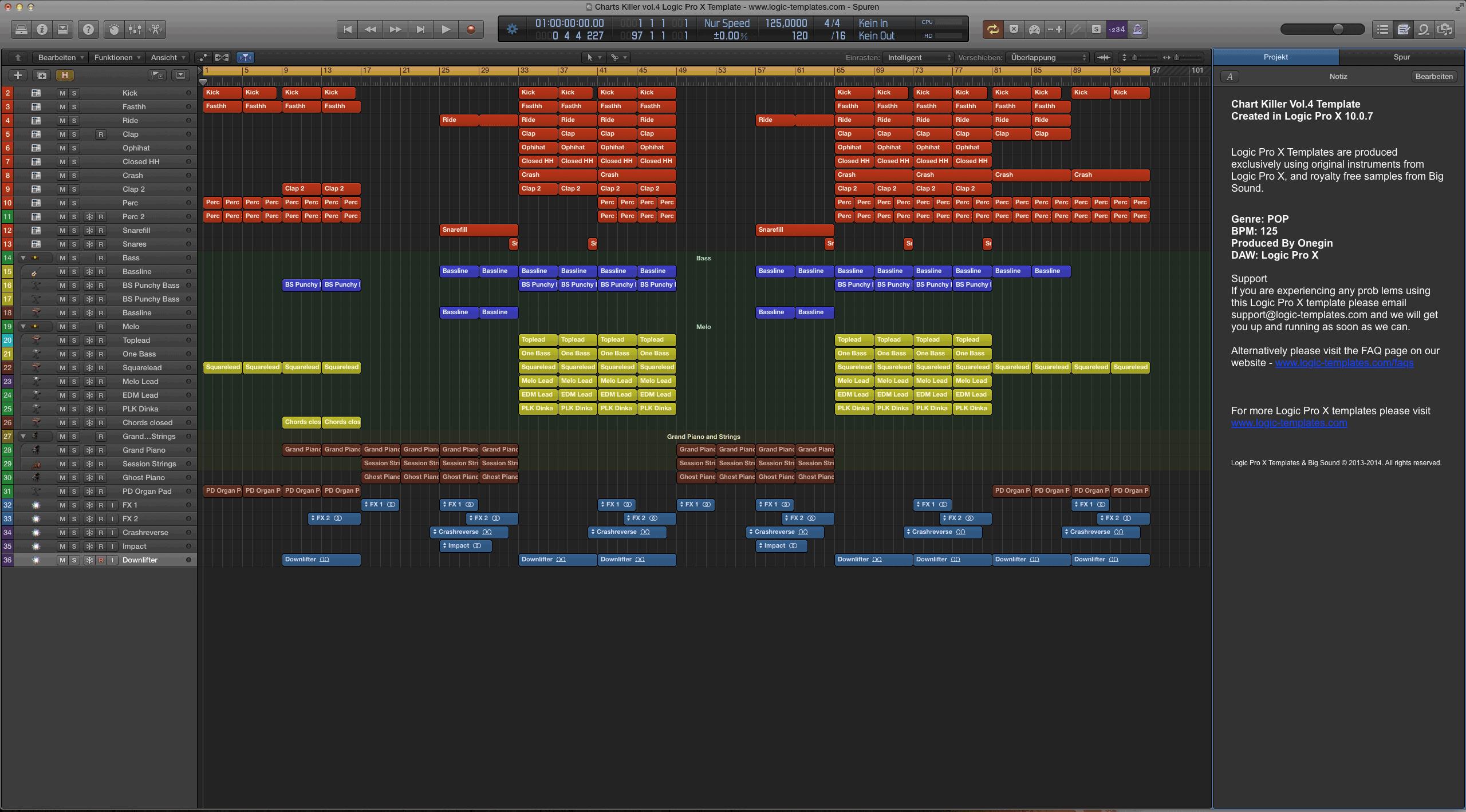 Charts Killer vol.4 Logic Pro X Template