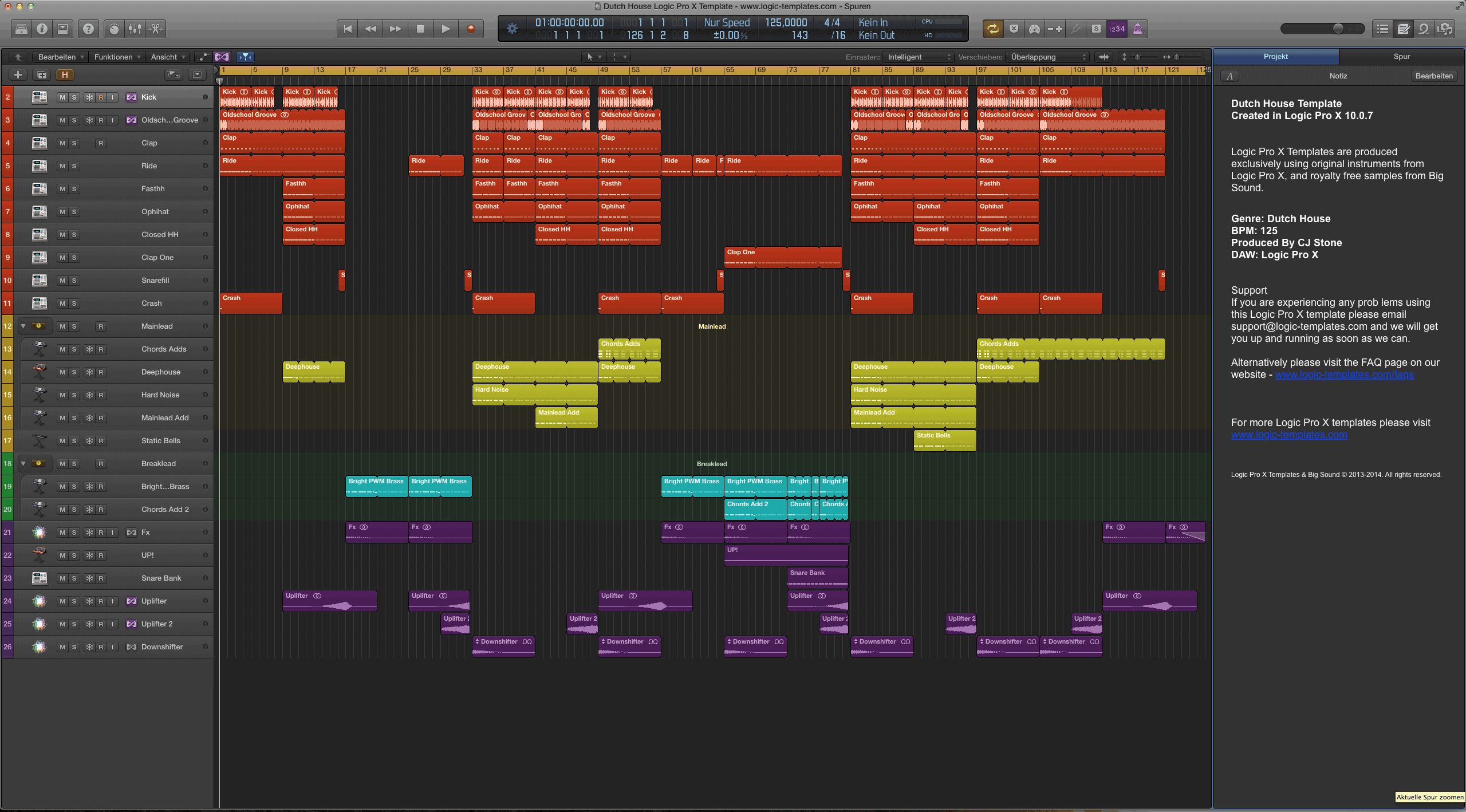 Dutch House Logic Pro X Template