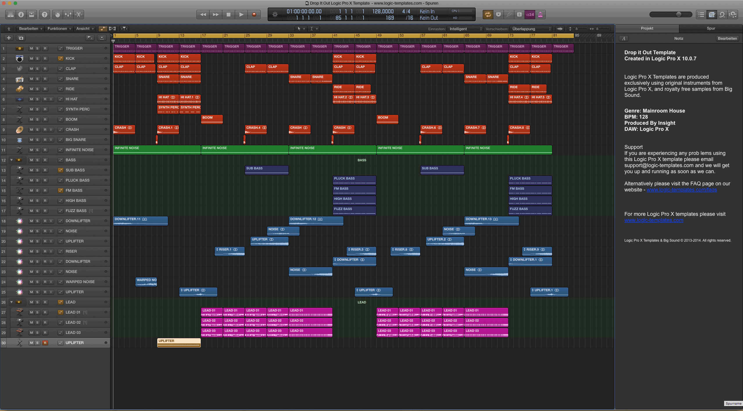 Drop It Out Logic Pro X Template
