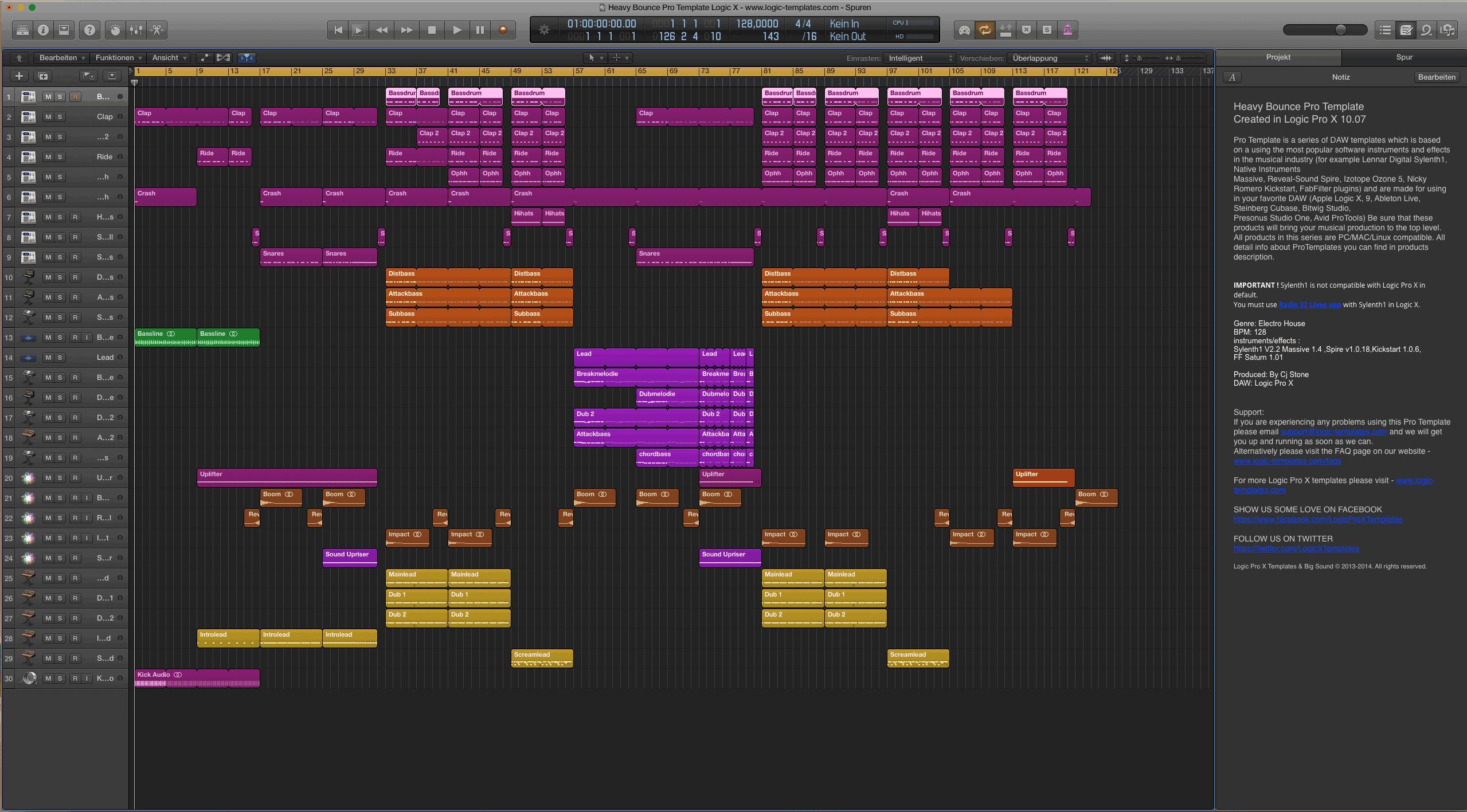 Heavy Bounce Pro Template Logic X1