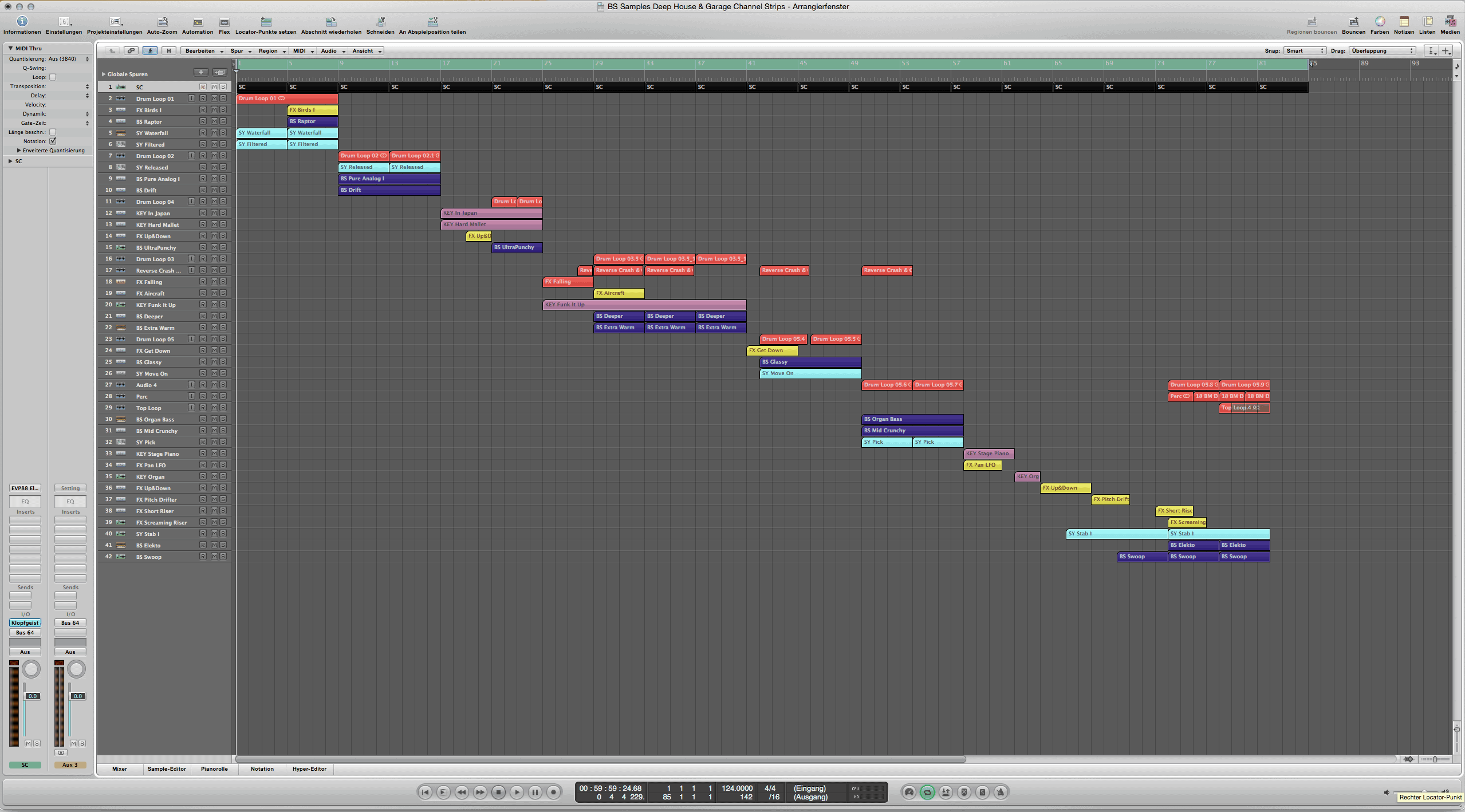BS Samples Deep House & Garage Channel Strips (Logic 9 project)