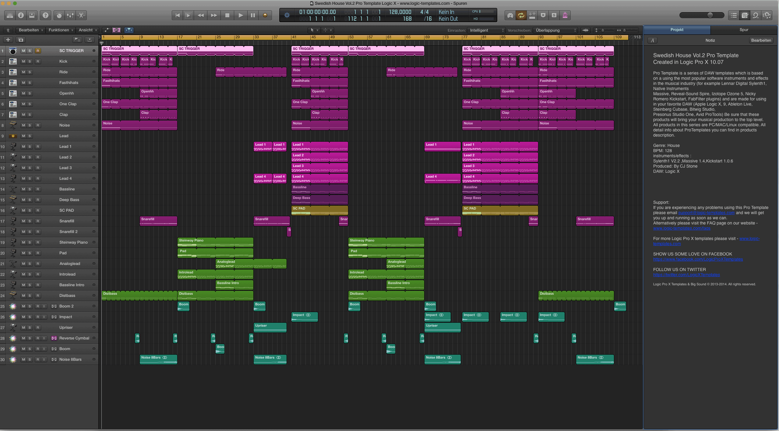 Swedish House Vol.2 Pro Template Logic X