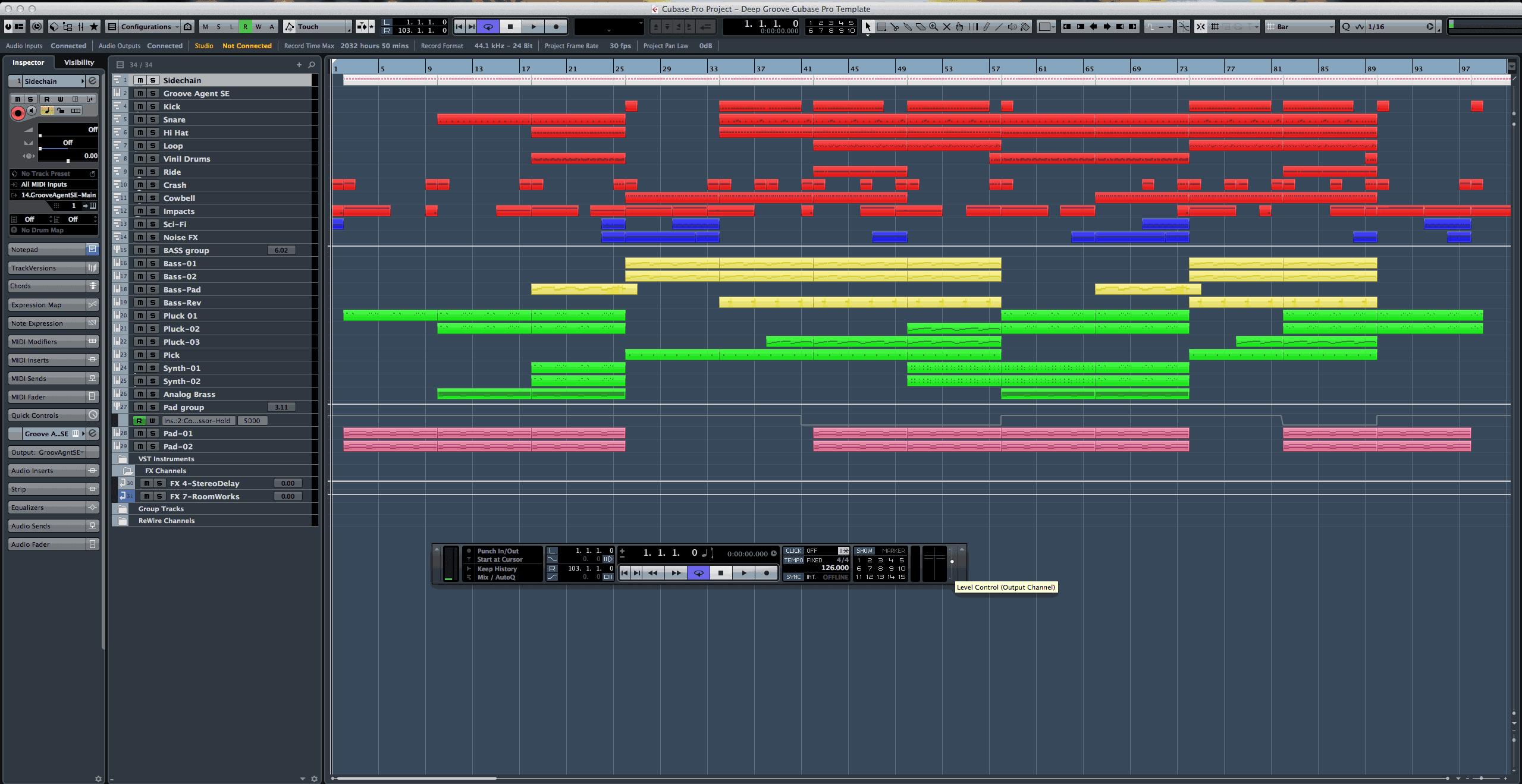 Deep Groove Cubase Pro Template