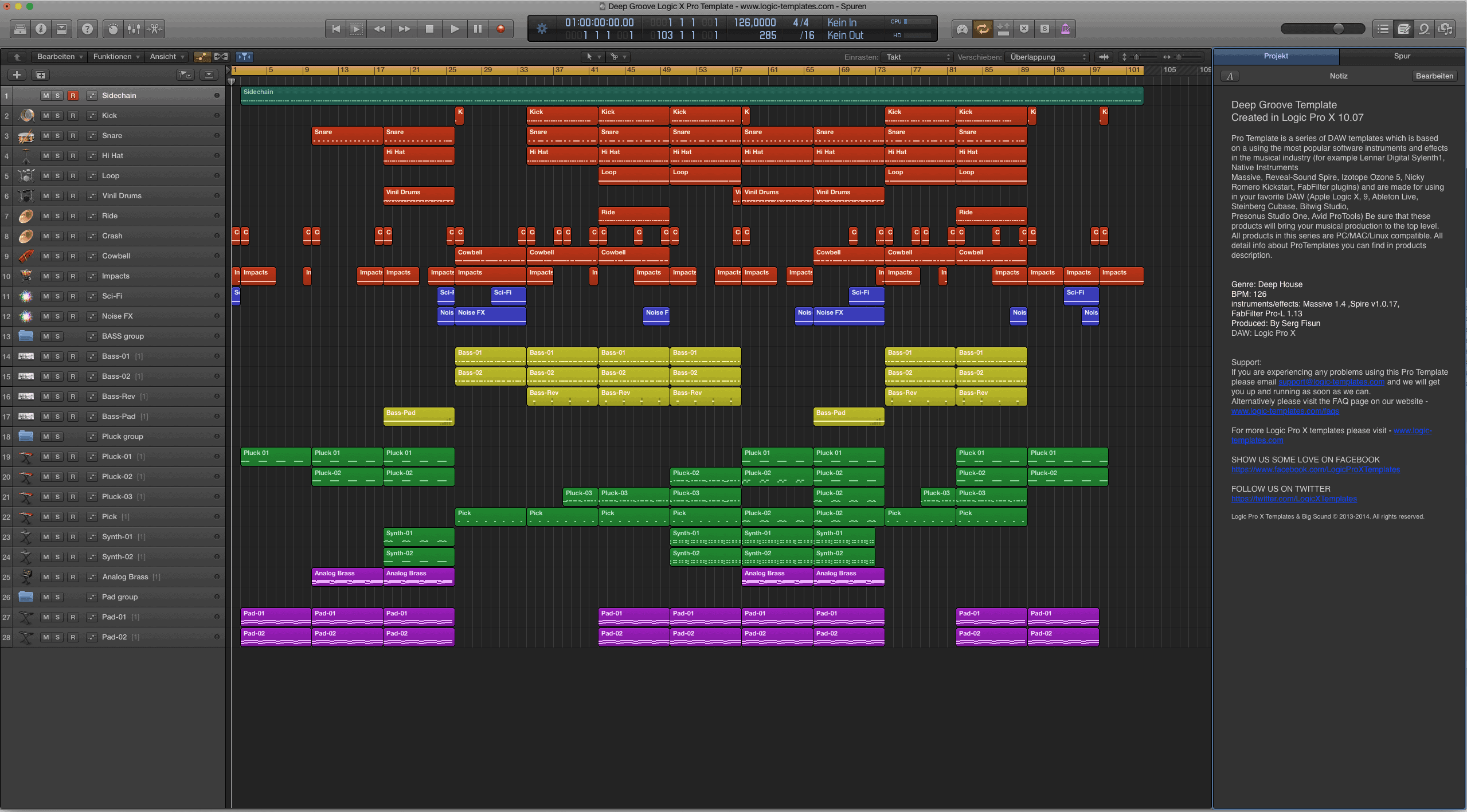 Deep Groove Logic X Pro Template