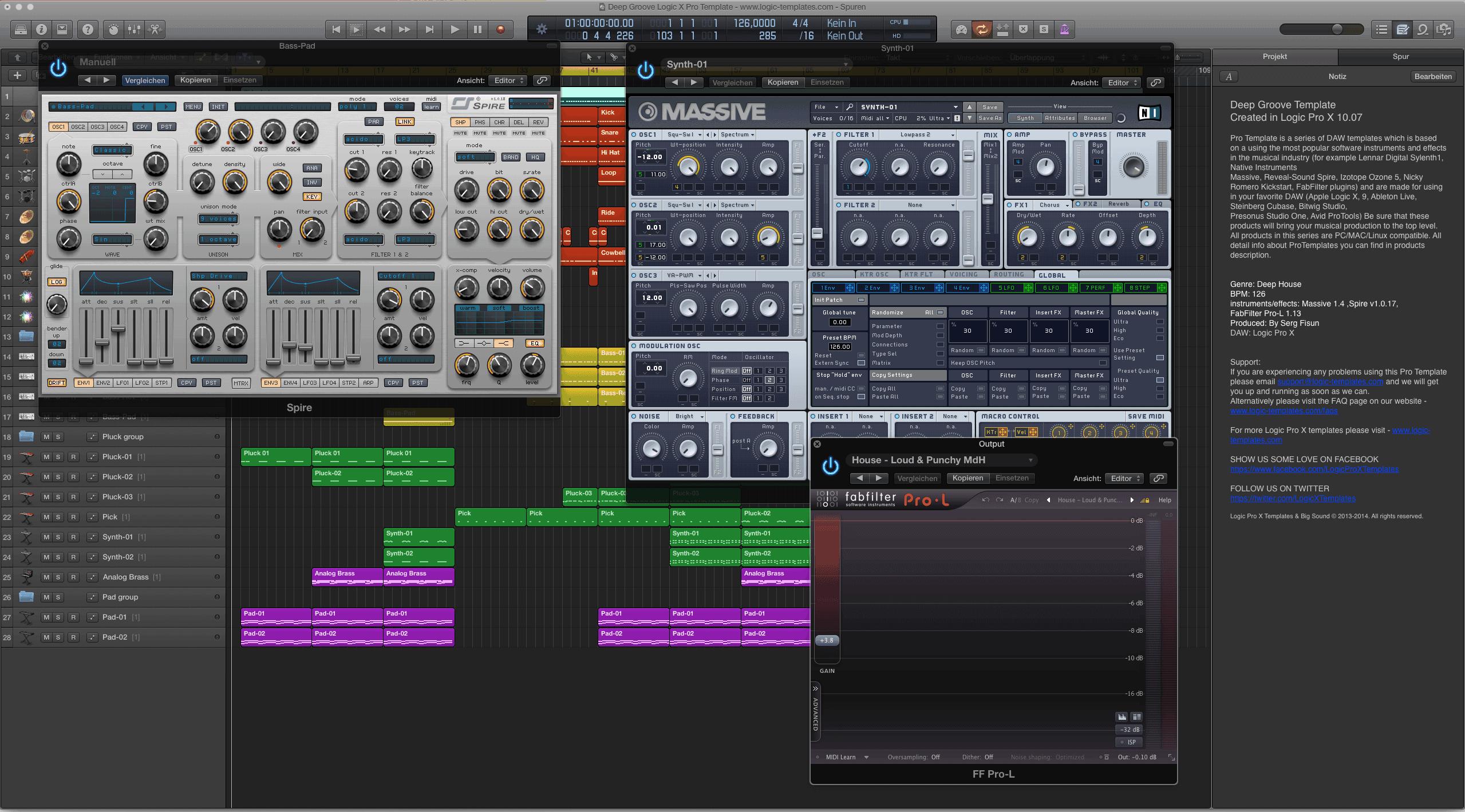 Deep Groove Logic X Pro Template 2