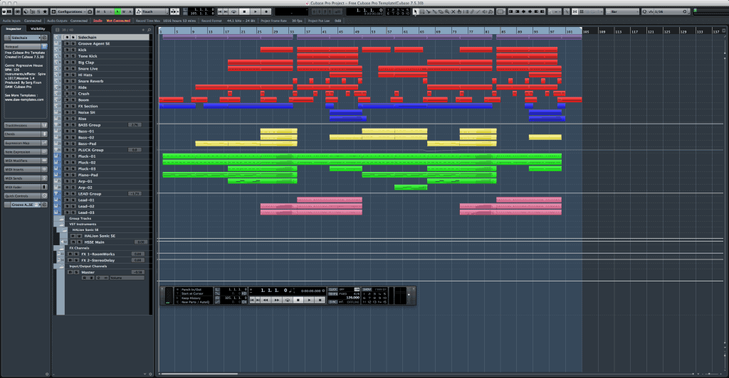 Free Cubase Template / Project