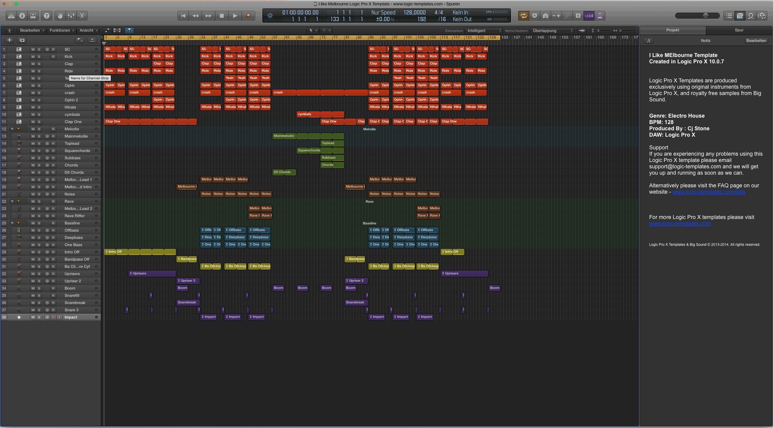 I like Melbourne Logic Pro X Template