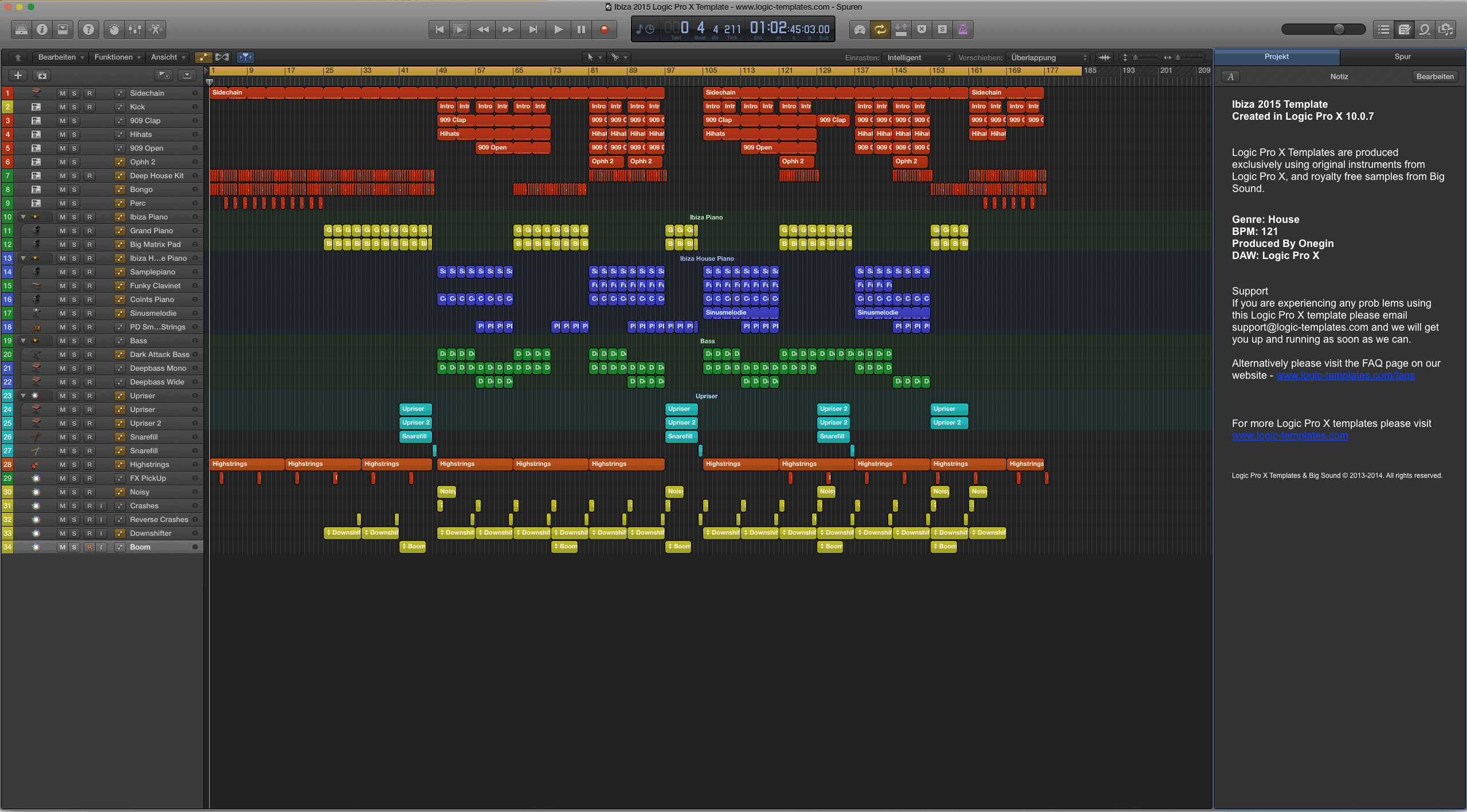 Ibiza 2015 Logic Pro X Template