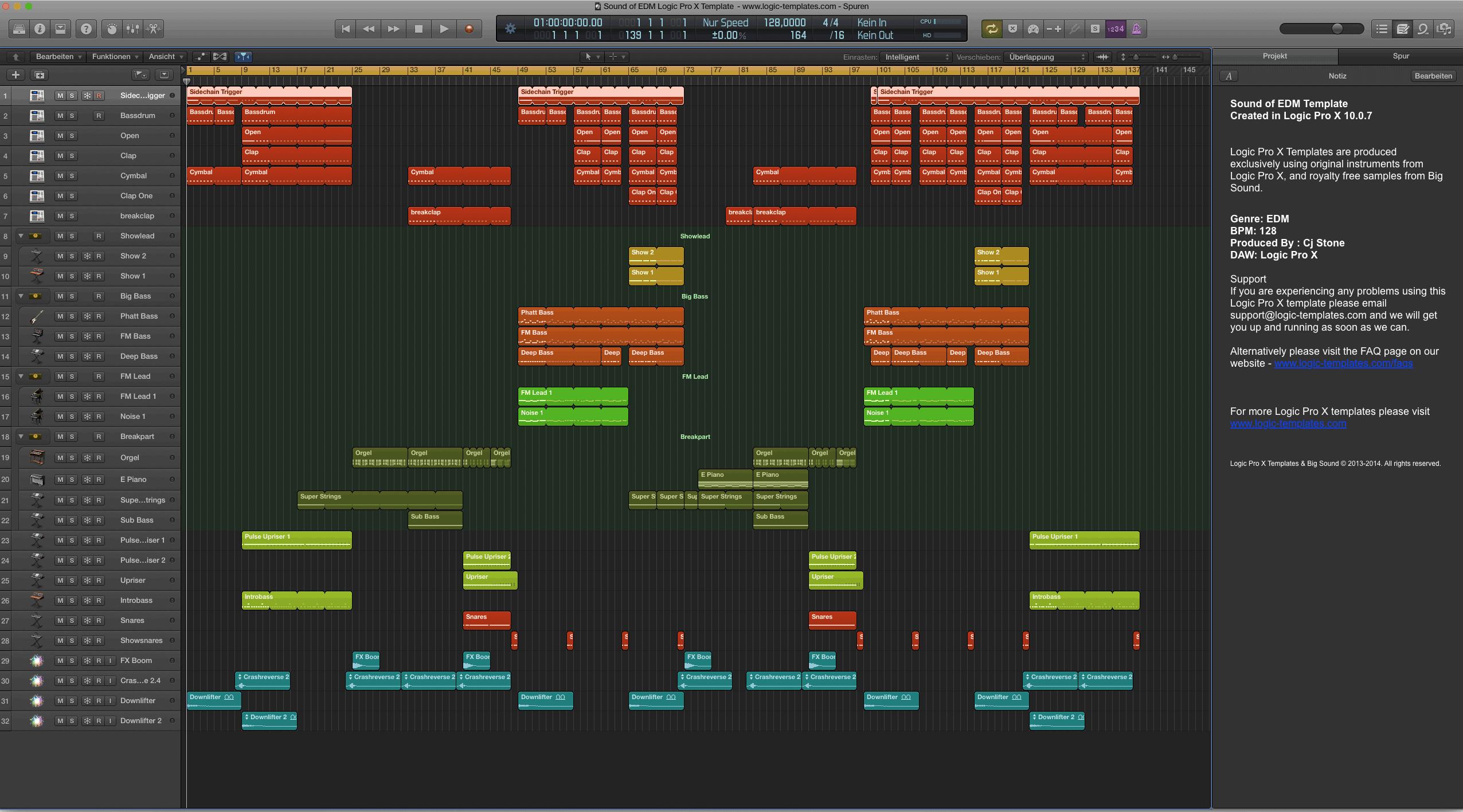 Sound of EDM Logic Pro X Template