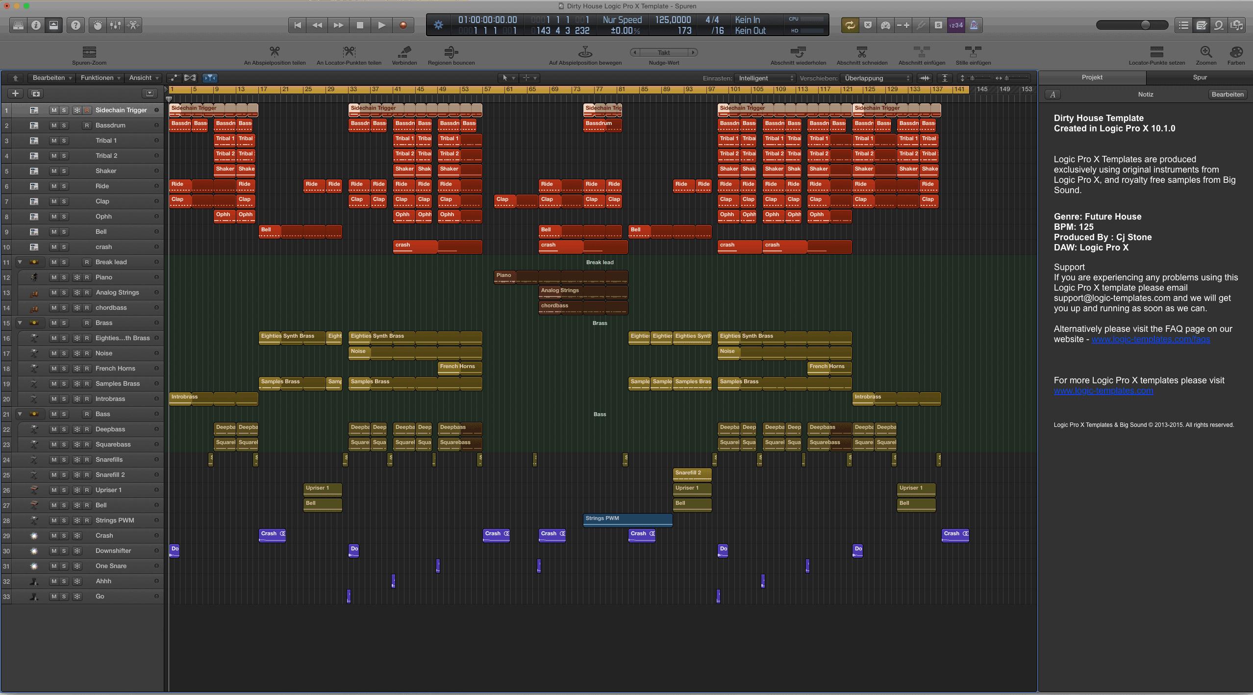 Dirty House Logic Pro X Template