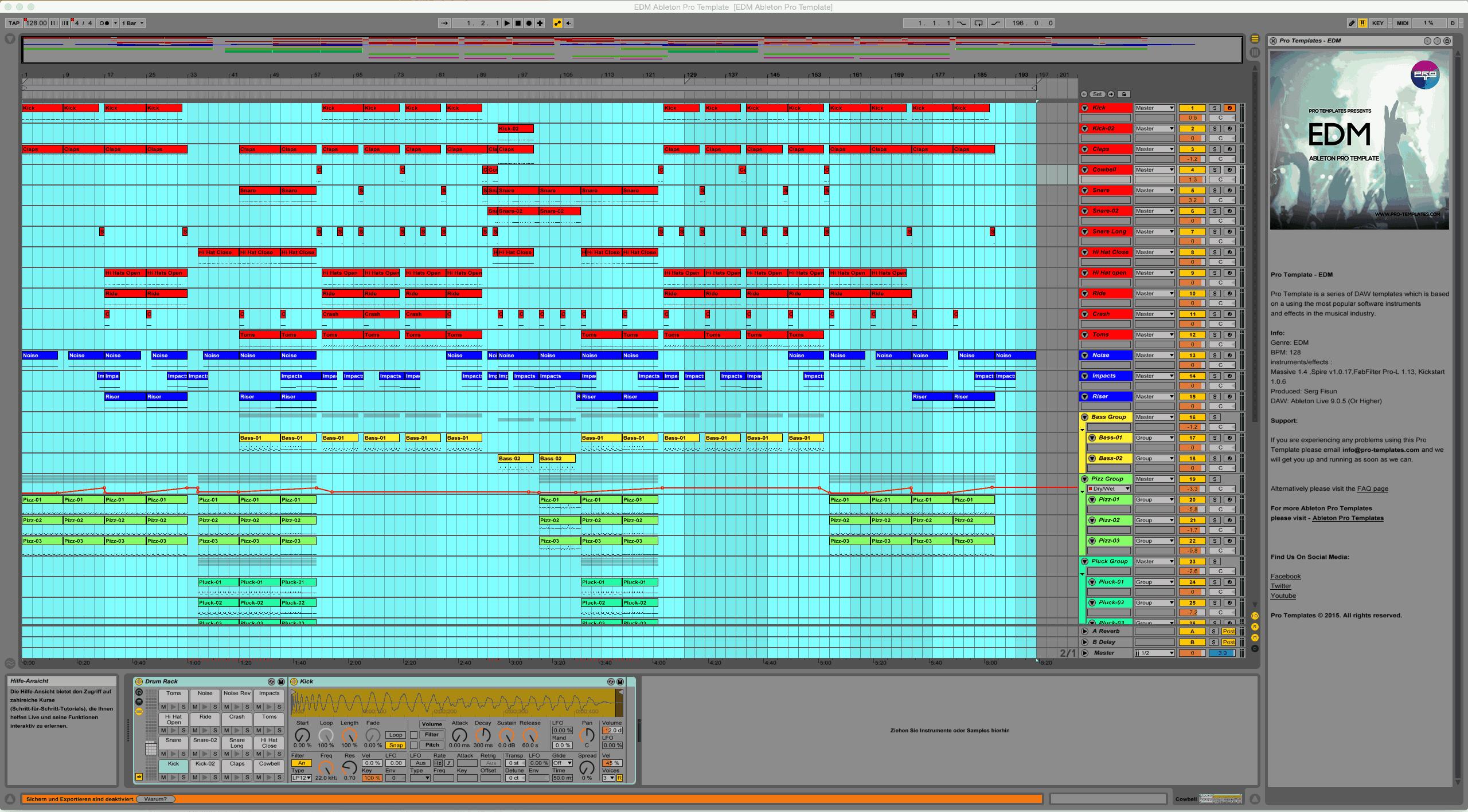 EDM Ableton Live Template - Edm template