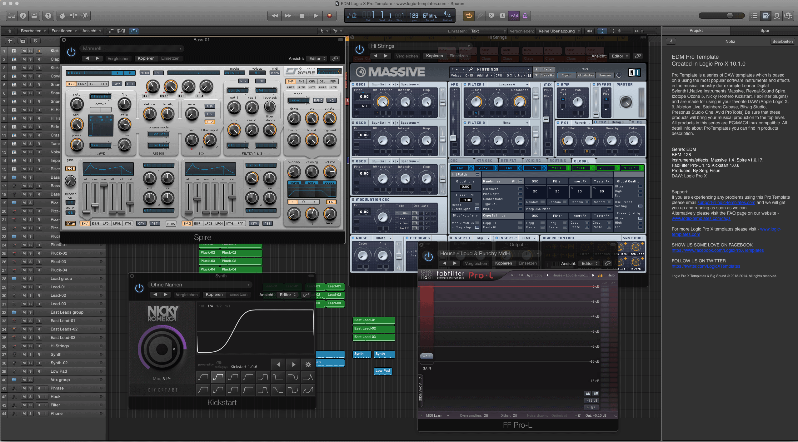 Free EDM Logic Pro Template