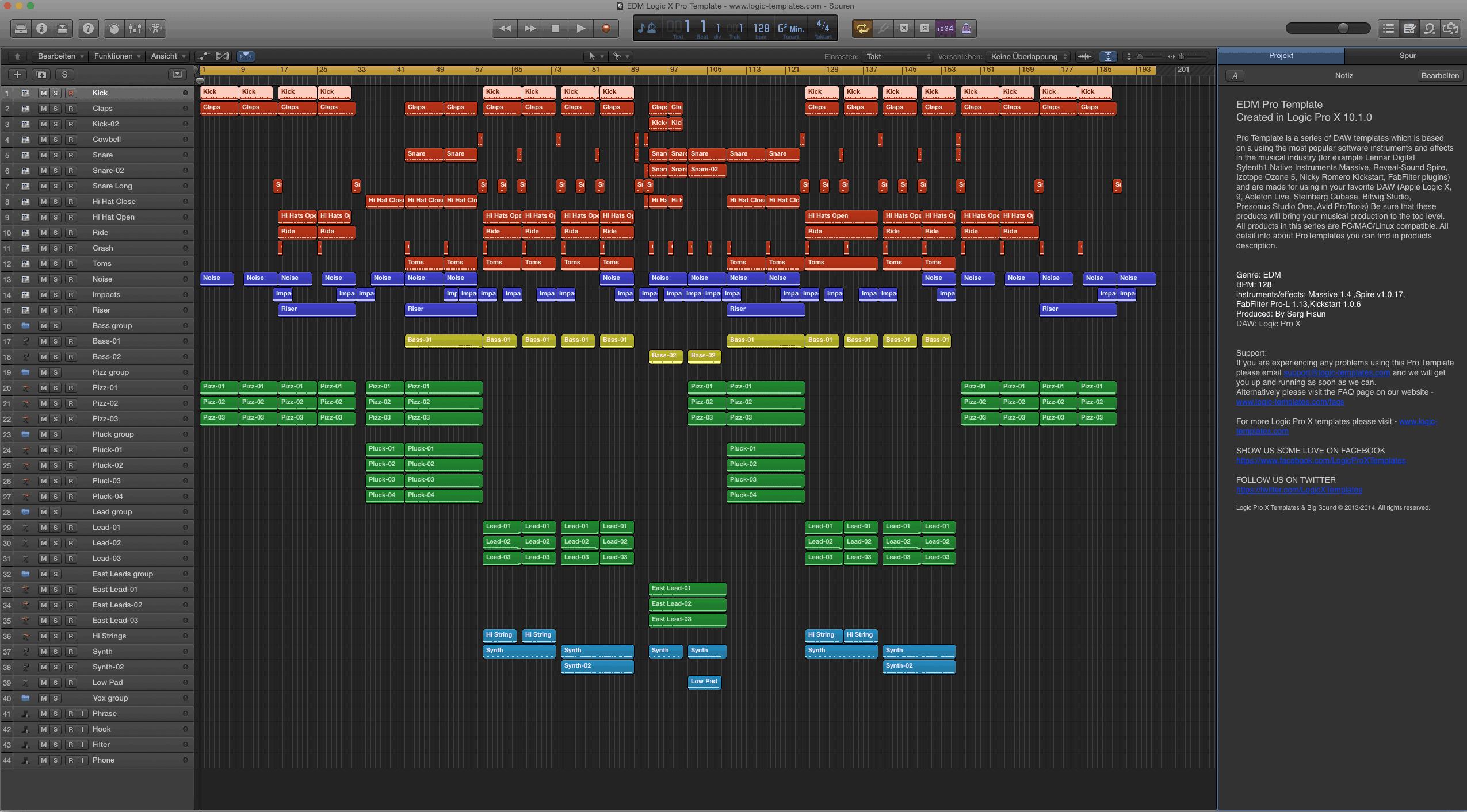 EDM Logic X Pro Template