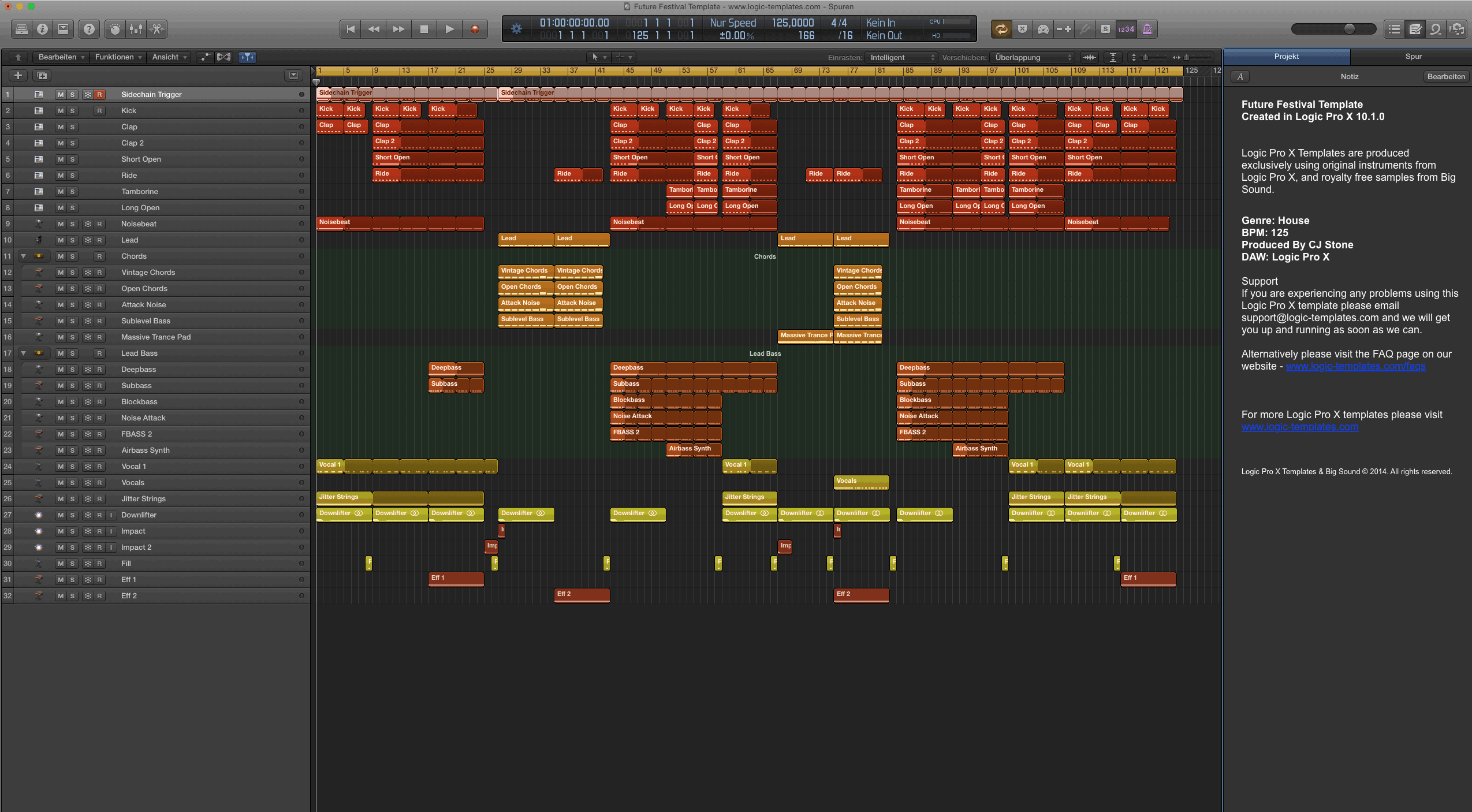 Future Festival Logic Pro X Template