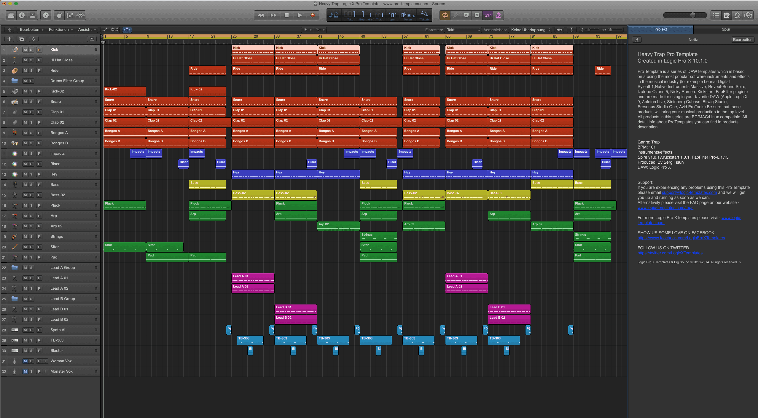 Heavy Trap Logic X Pro Template