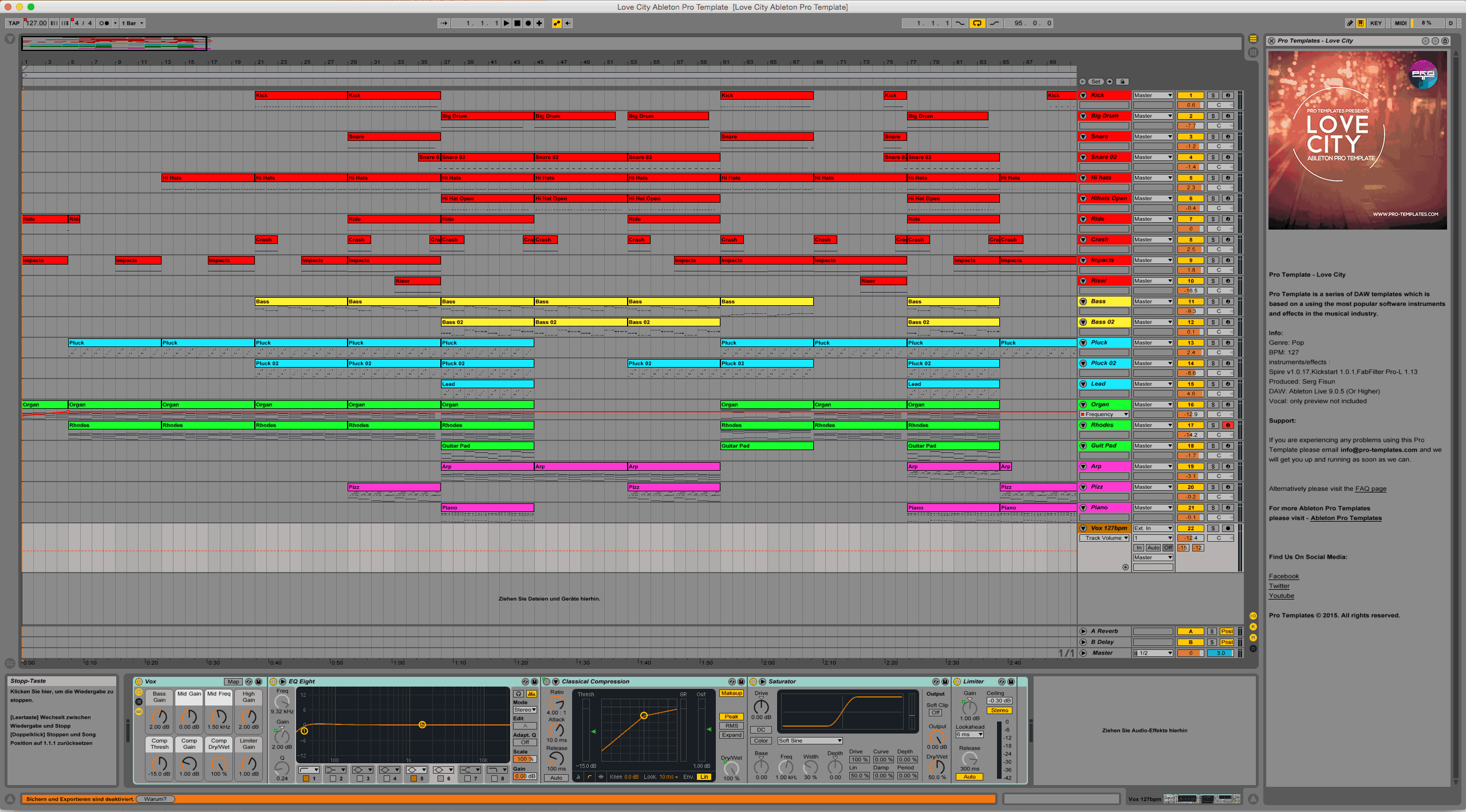 Love City Ableton Pro Template