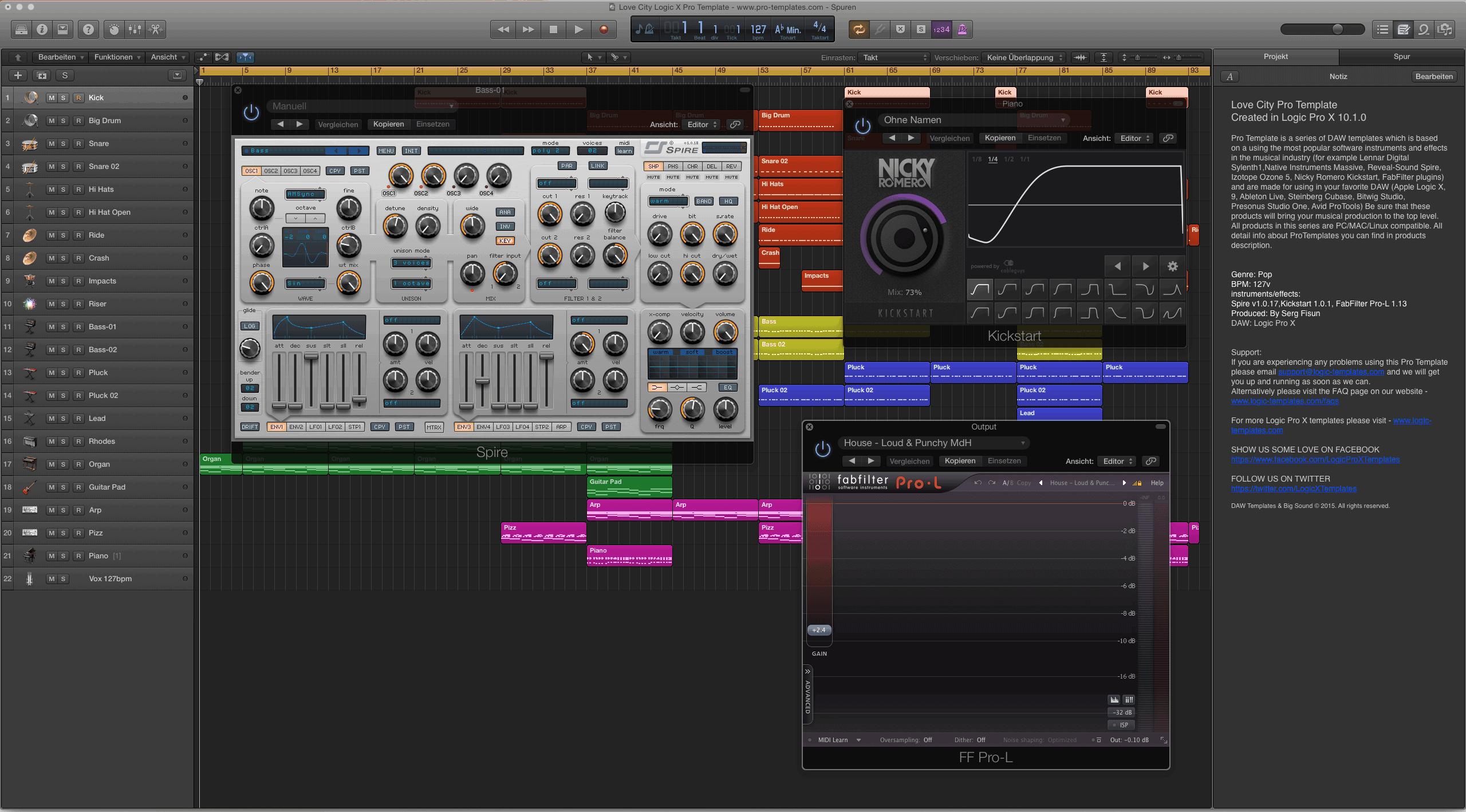 Love City Logic X Pro Template 2