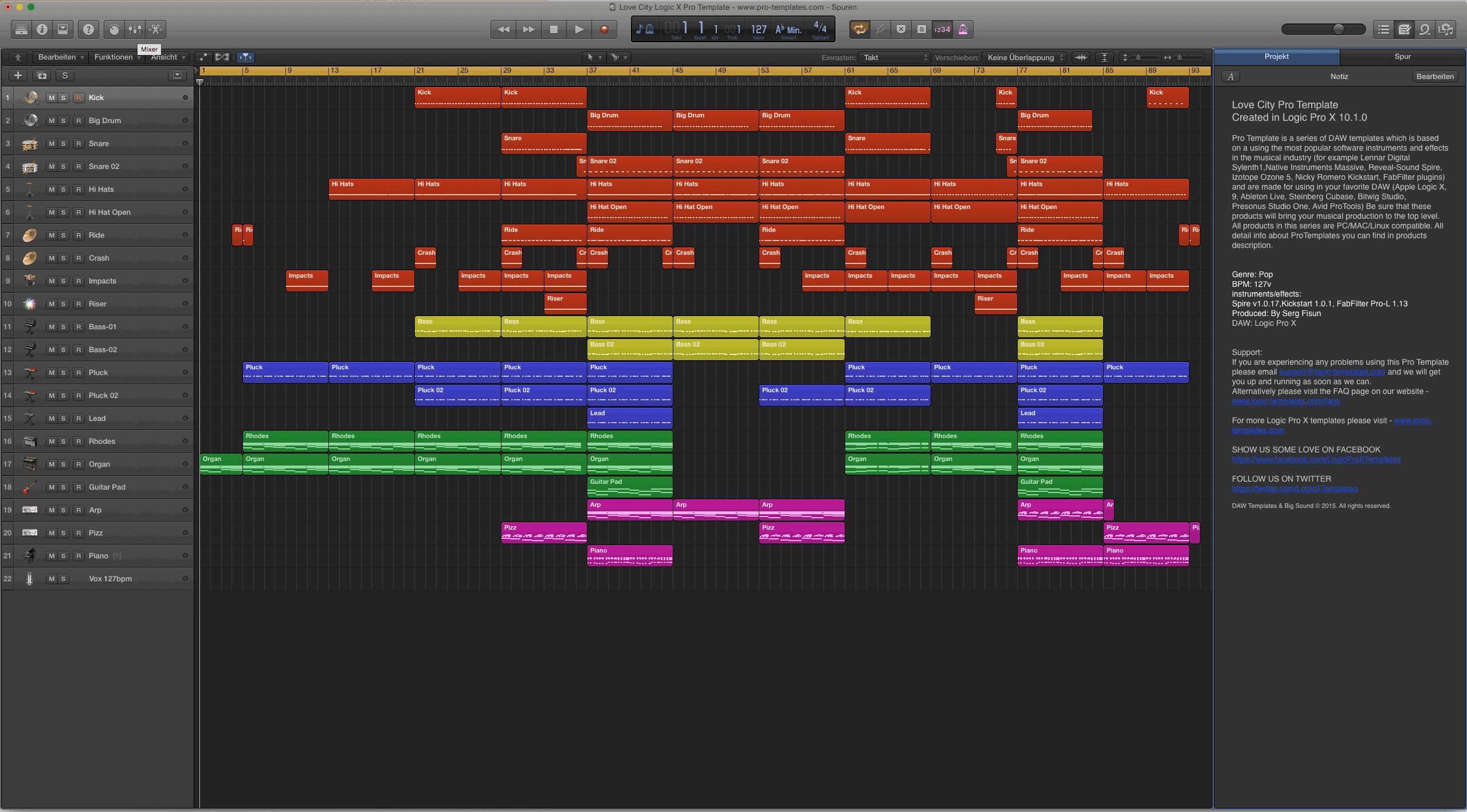 Love City Logic X Pro Template