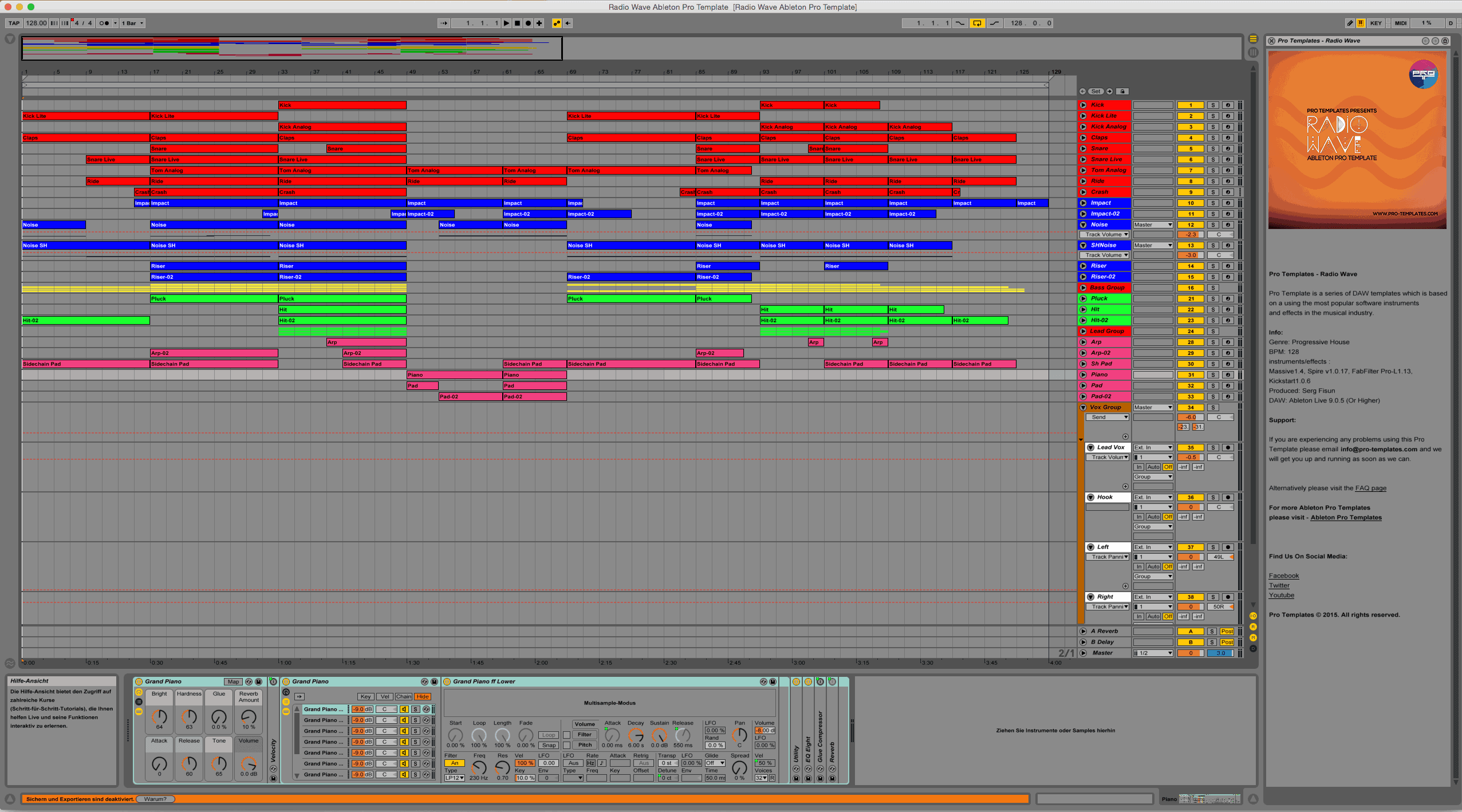 Radio Wave Ableton Pro Template Project