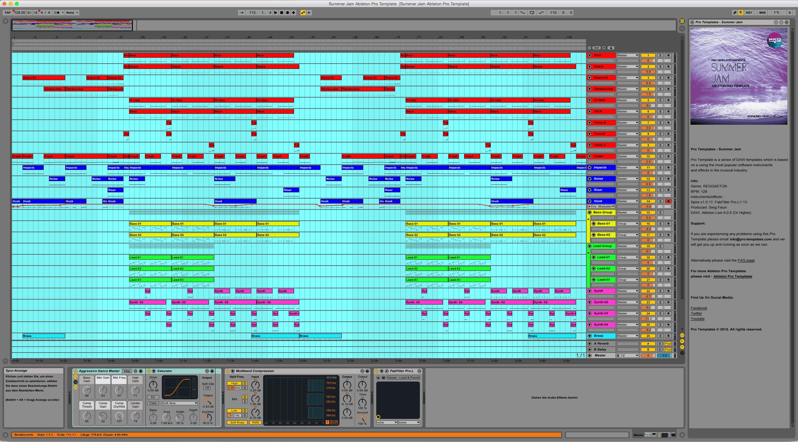 Summer Jam Ableton Pro Template