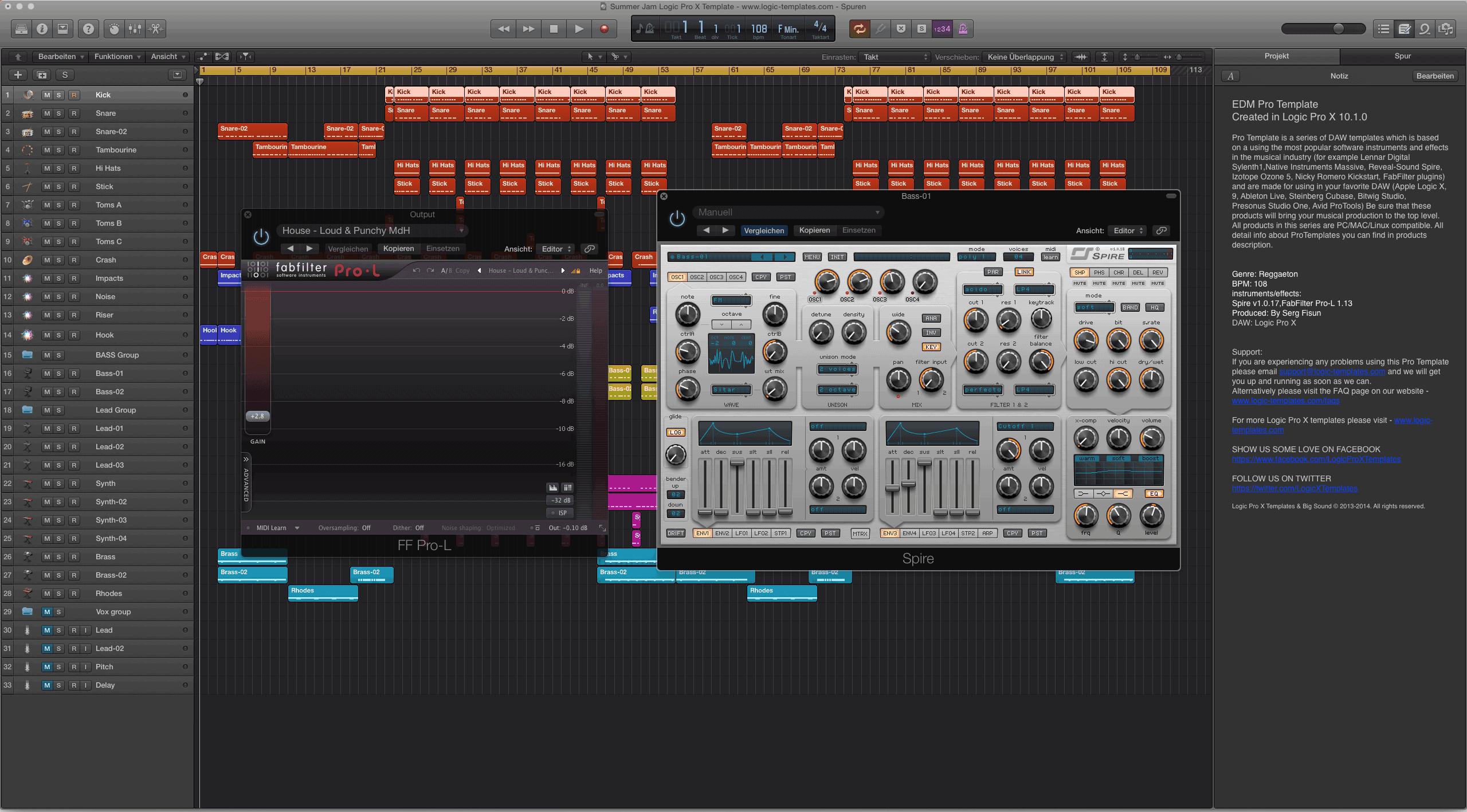 Summer Jam Logic Pro X Template 2