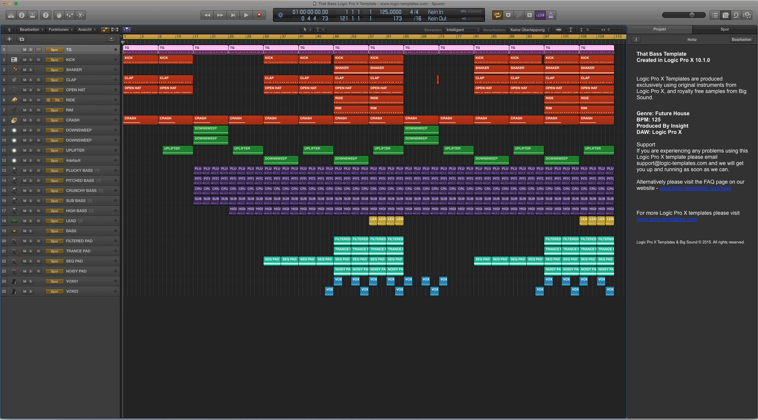 That Bass Logic Pro X Template