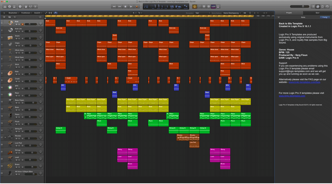 Back to 80s logic pro x template maxwellsz