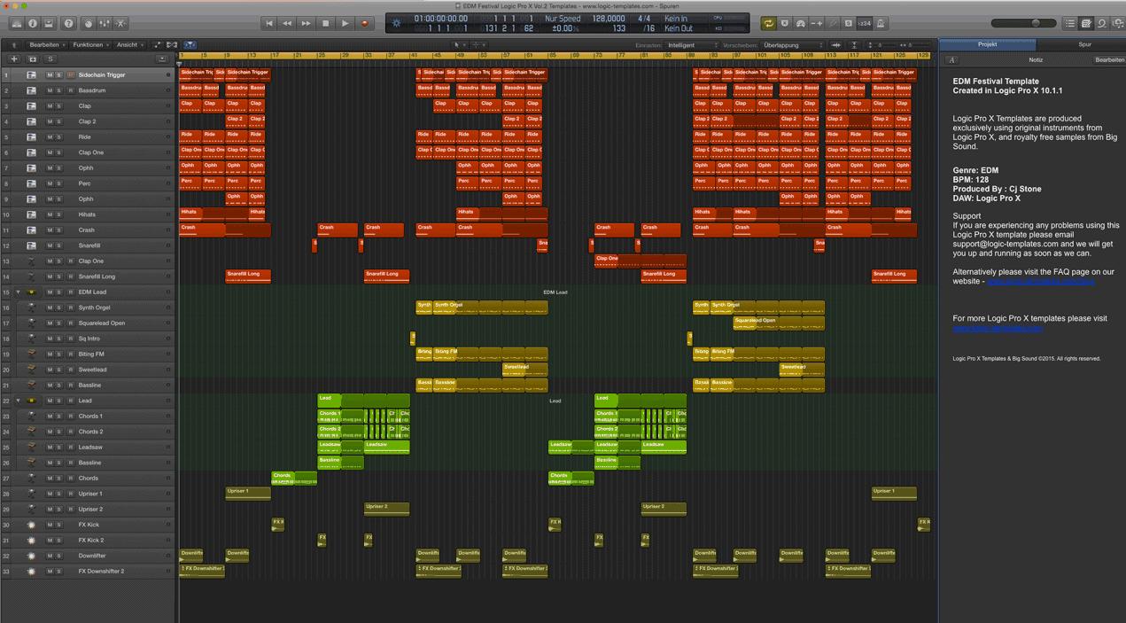 EDM Festival Logic Pro X Vol.2