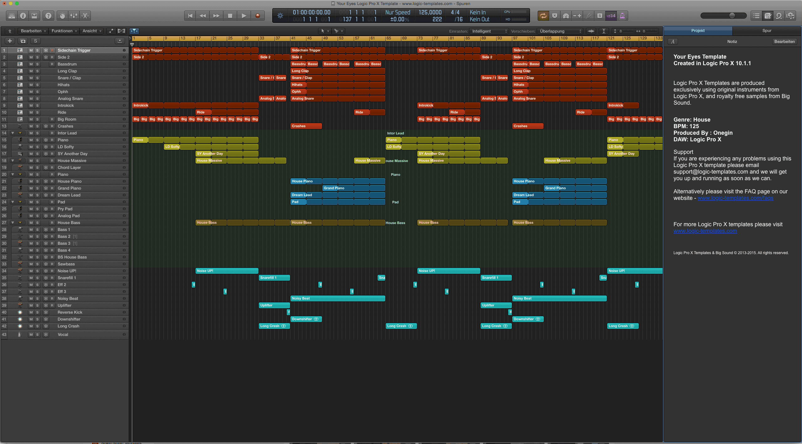 Your Eyes Logic Pro X Template