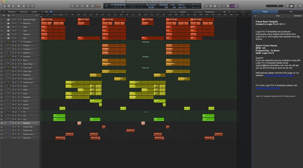 Future Bass Logic Pro X Template
