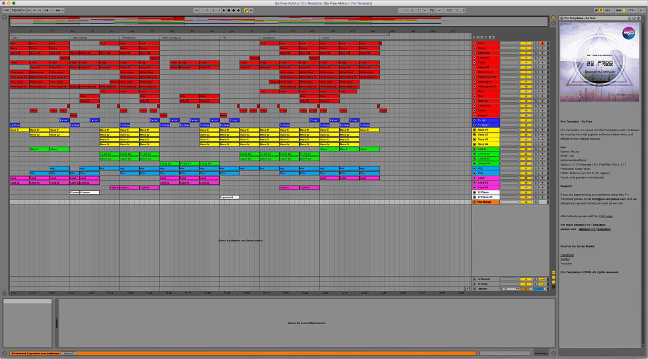 Be Free Ableton Pro Template
