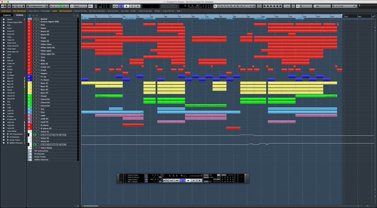 Be-Free-Cubase-Pro-Template2