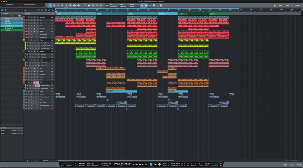 #Beachhouse-Studio-One-DAW-Template1