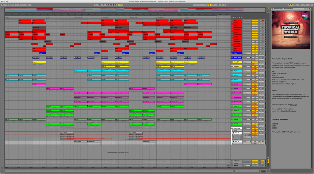 Download Free Ableton Templates, Ableton Live Projects