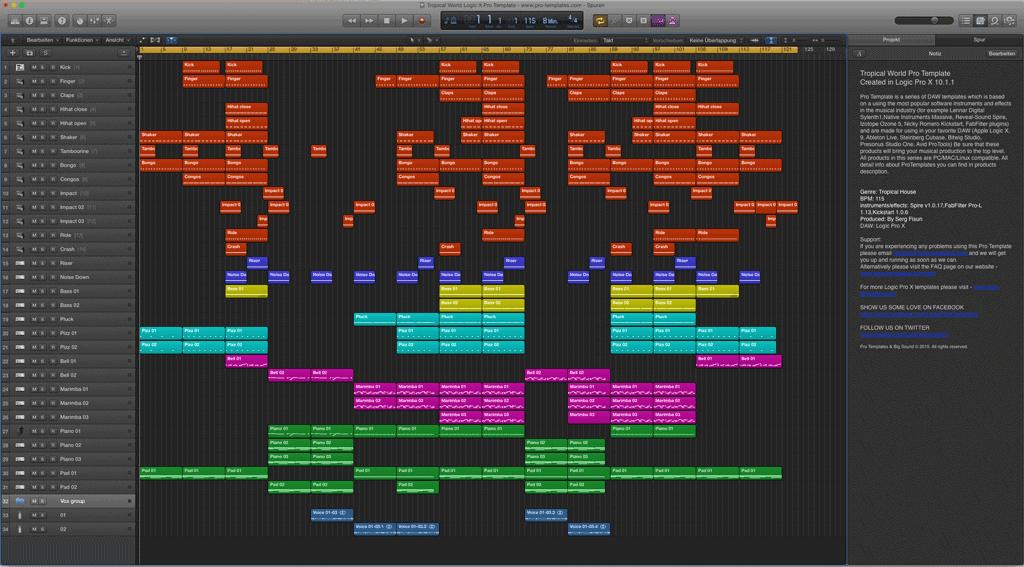 Tropical World Logic X Pro Template